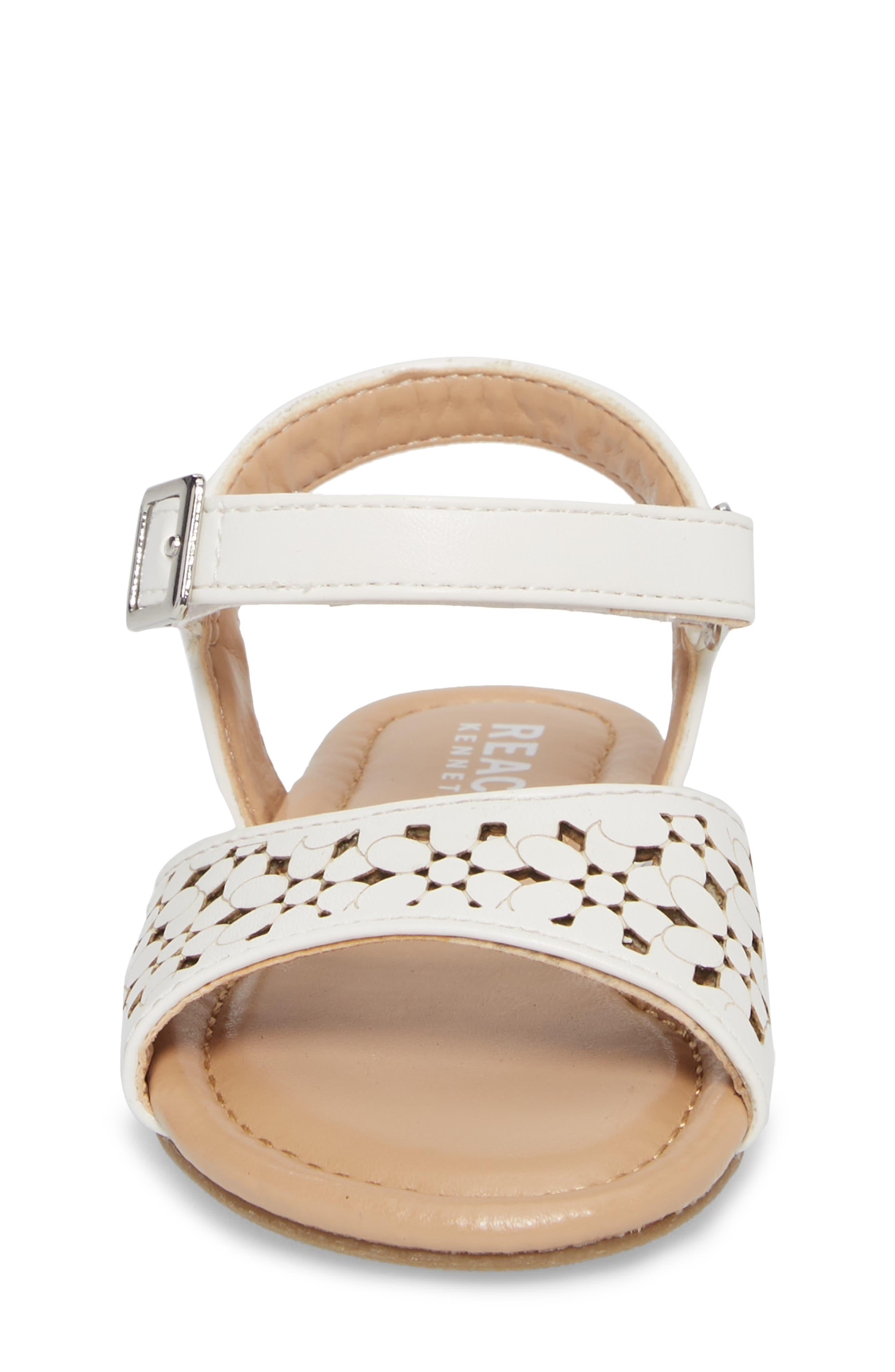 Kiera Perforated Sandal,                             Alternate thumbnail 4, color,                             100