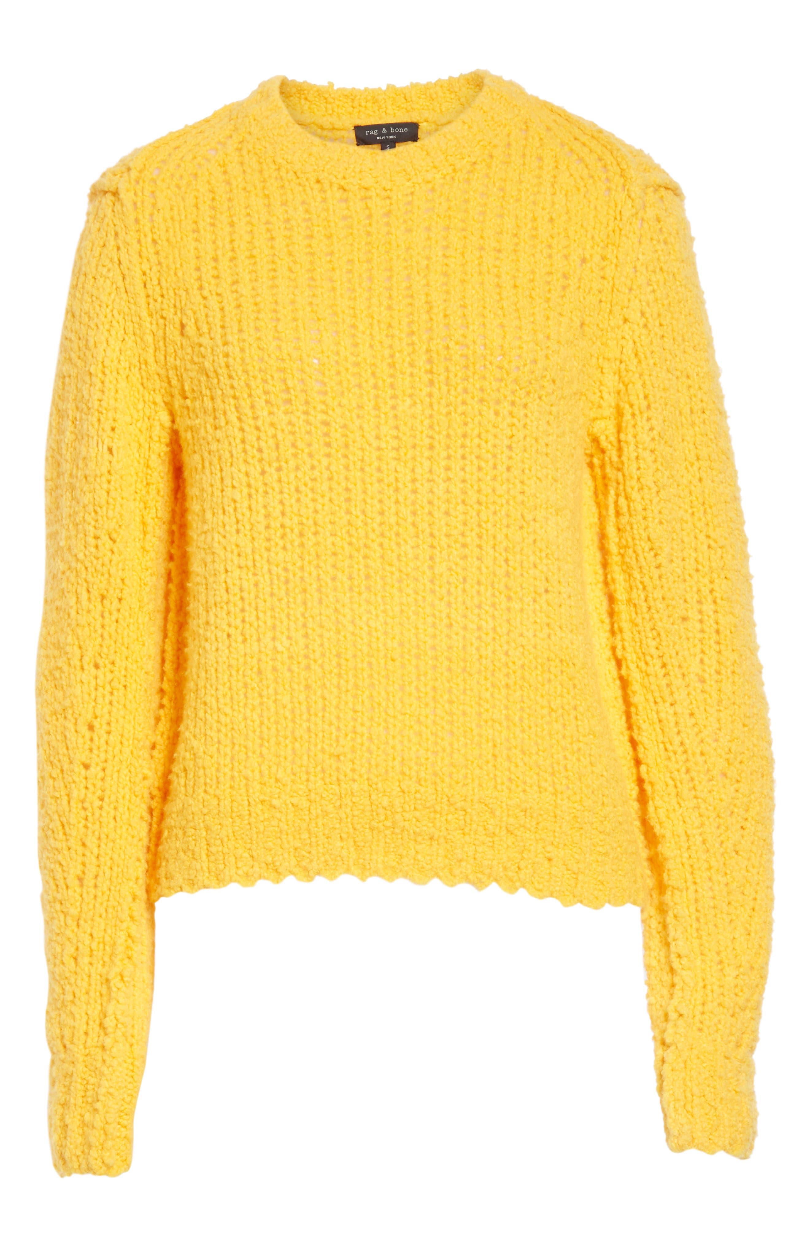 Arizona Merino Wool Sweater,                             Alternate thumbnail 6, color,                             GOLD