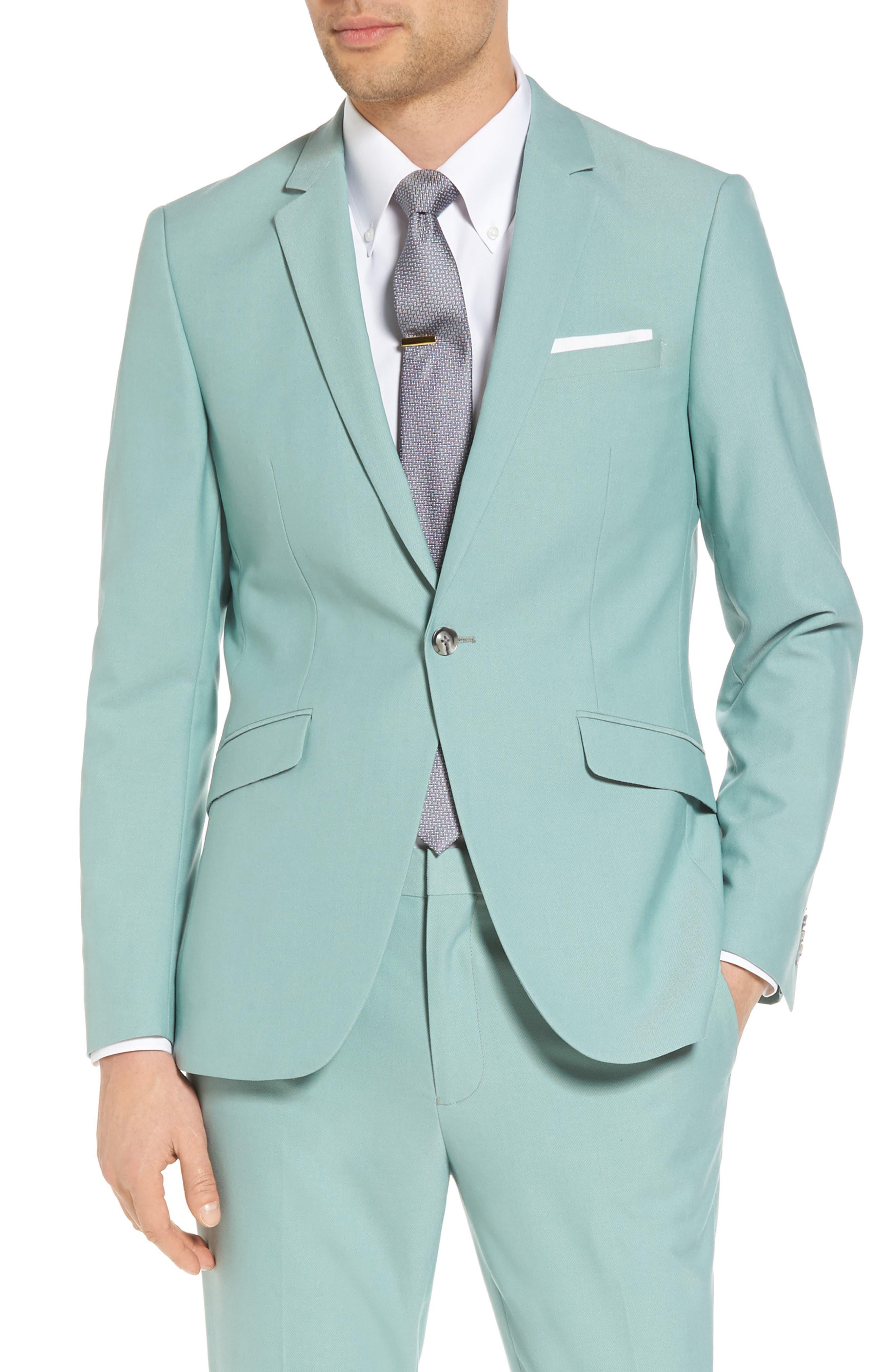 Skinny Fit Suit Jacket,                             Main thumbnail 1, color,                             300