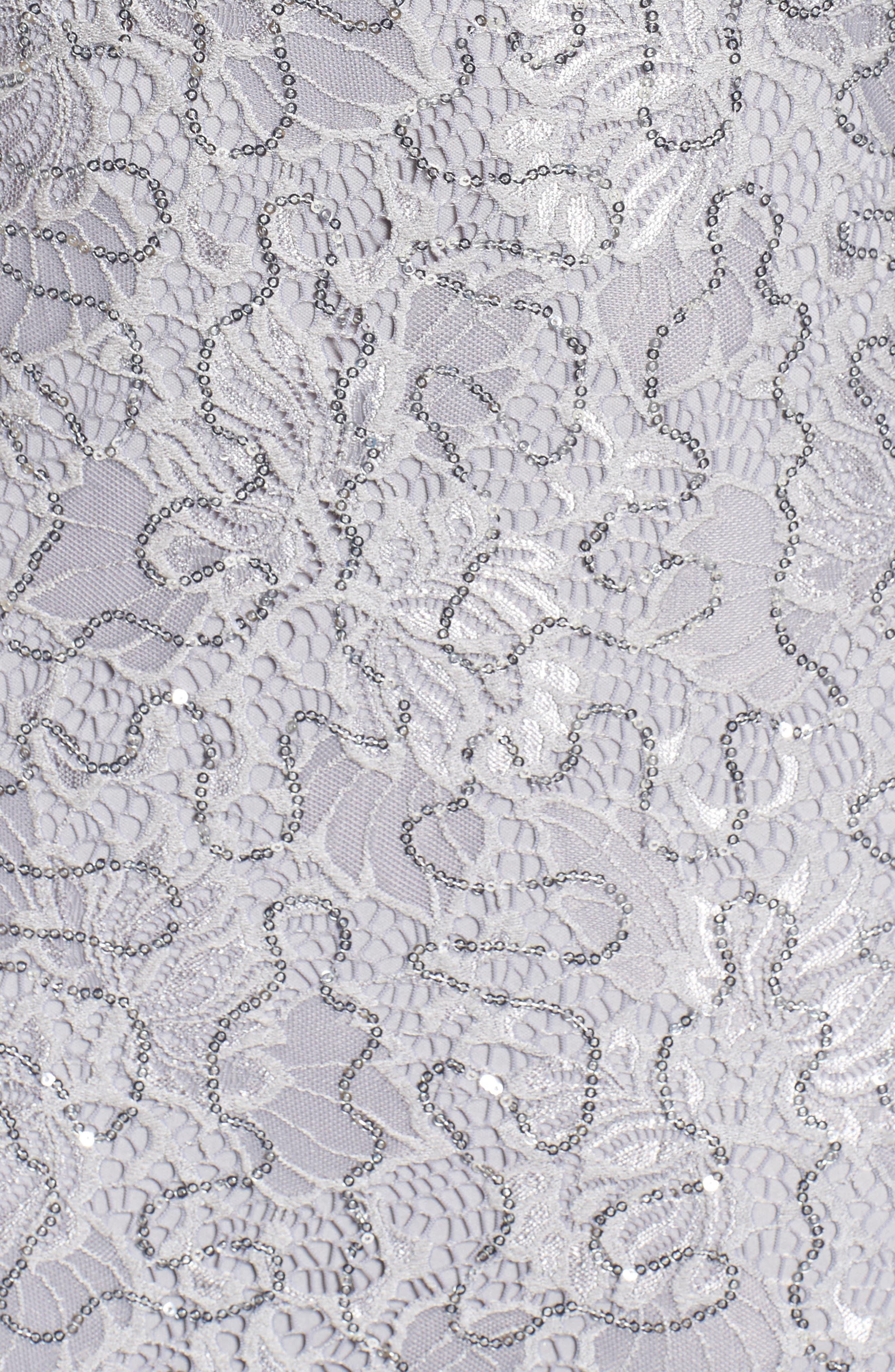 Sequin Lace Cold Shoulder Long Dress,                             Alternate thumbnail 14, color,