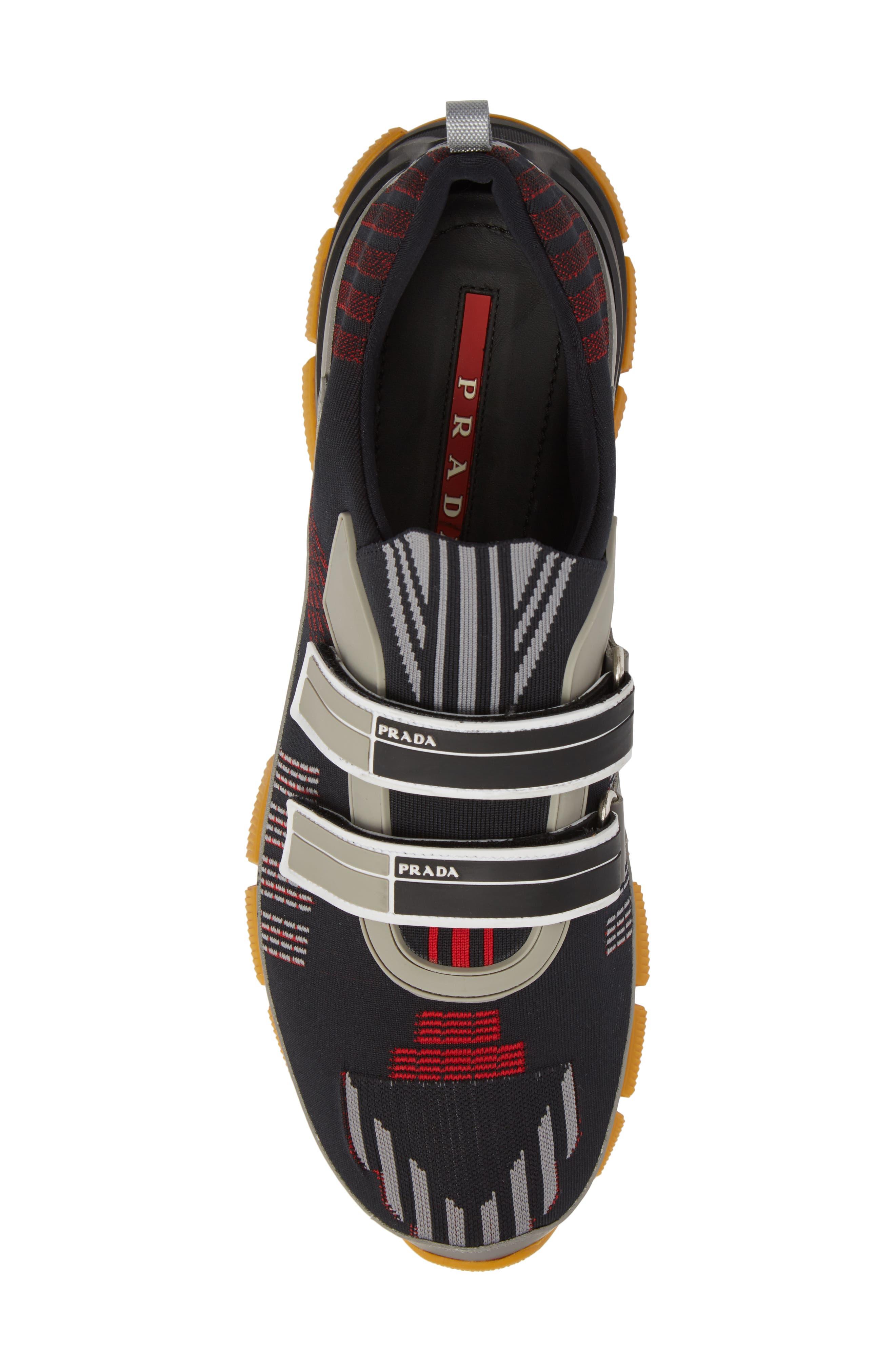 Linea Rossa Strap Sneaker,                             Alternate thumbnail 5, color,                             001