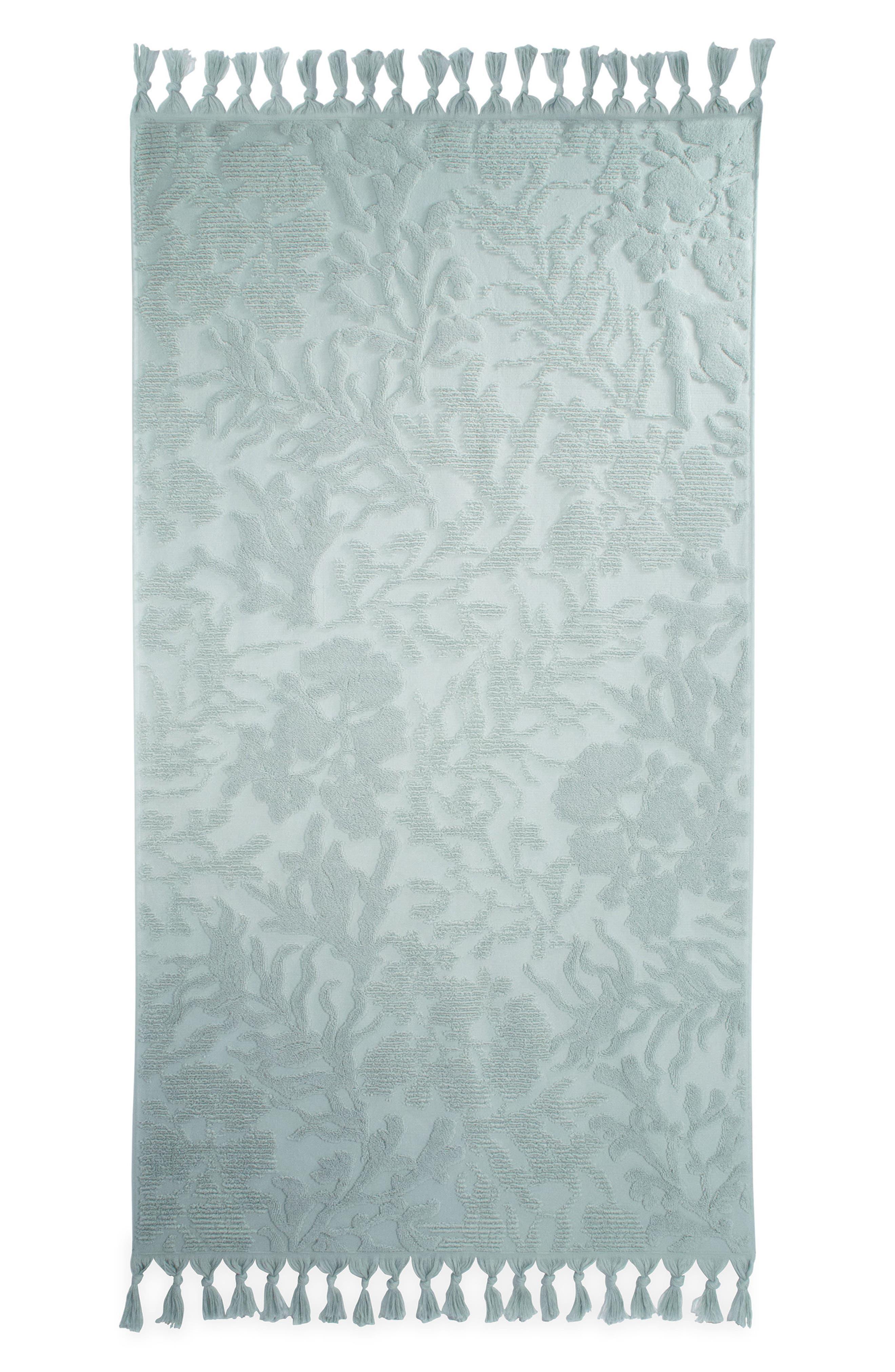 Ocean Reef Bath Towel,                             Main thumbnail 1, color,                             SEAFOAM