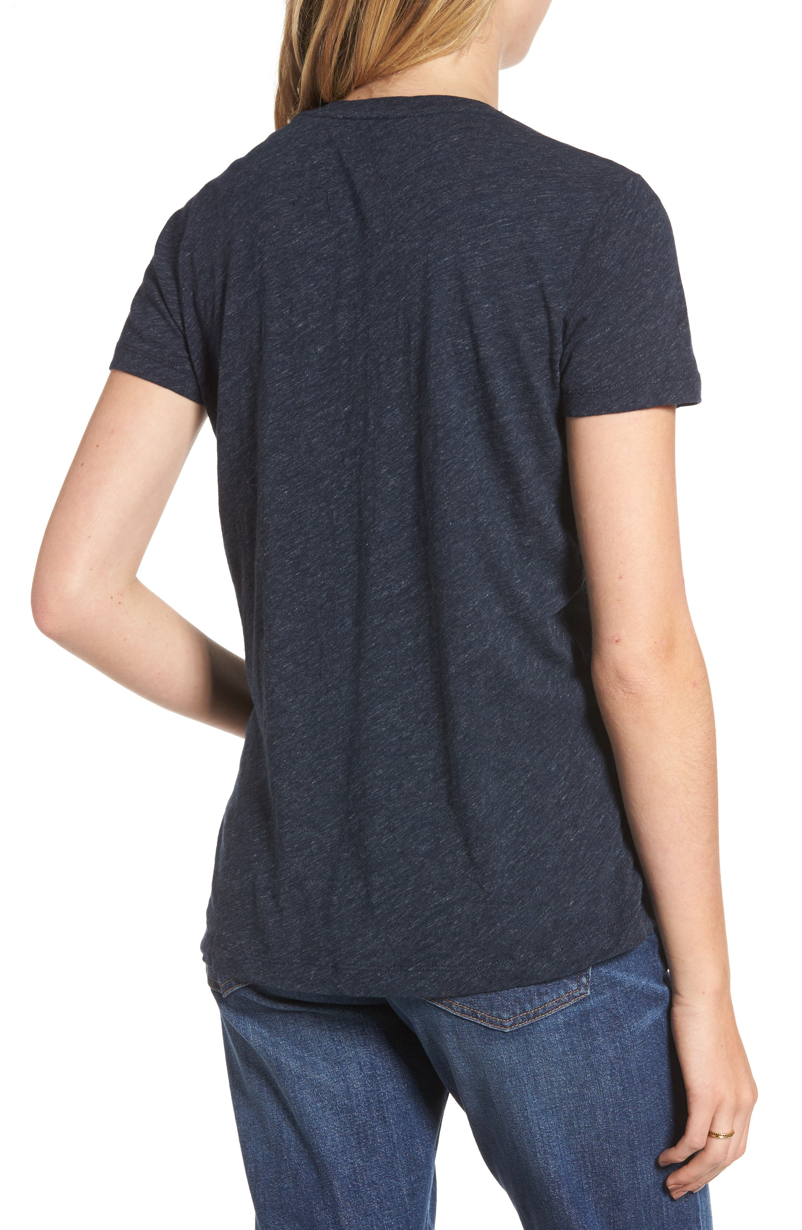 Whisper Cotton V-Neck Pocket Tee,                             Alternate thumbnail 89, color,