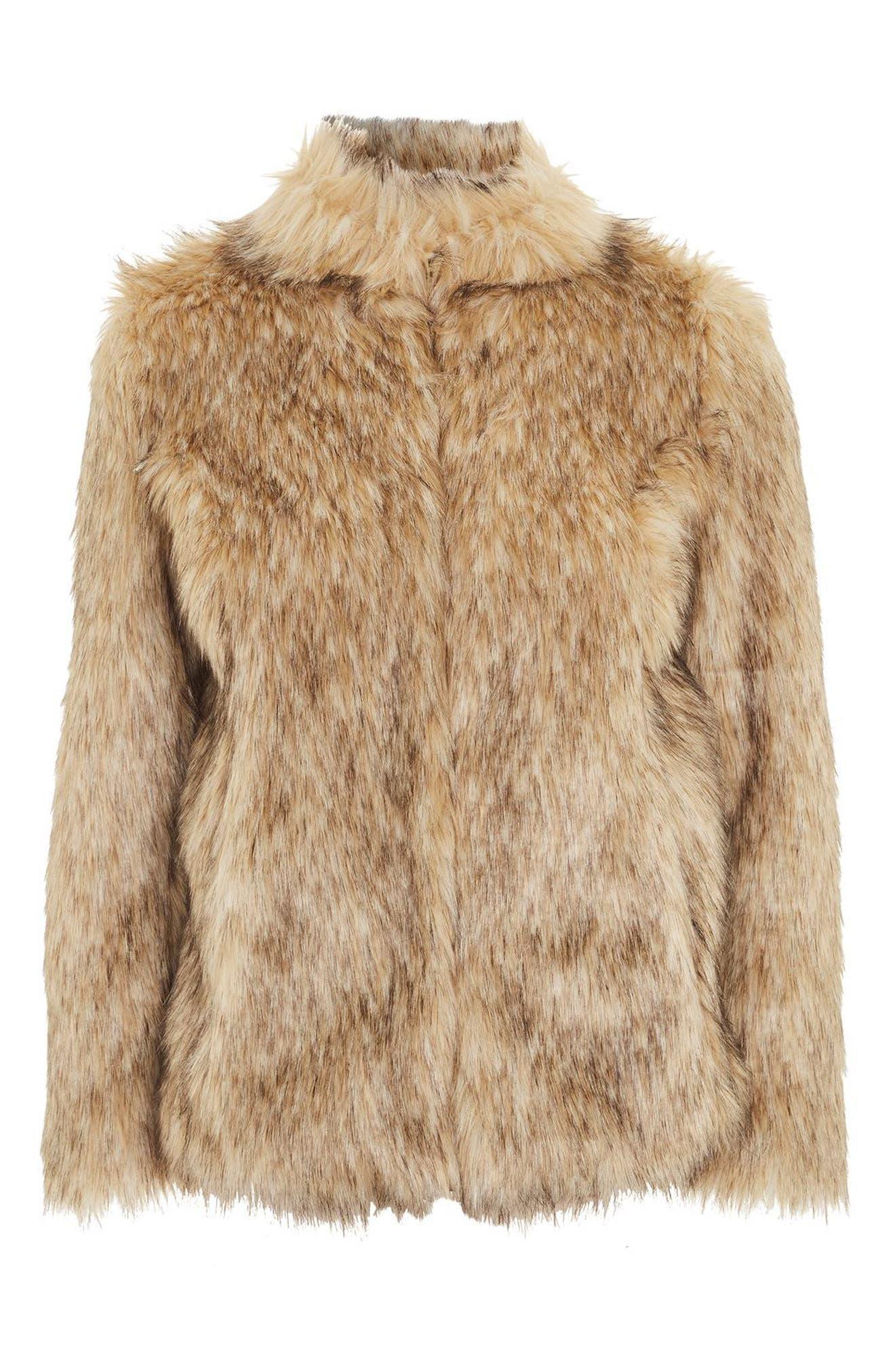 Kendall Faux Fur Jacket,                             Alternate thumbnail 5, color,                             270
