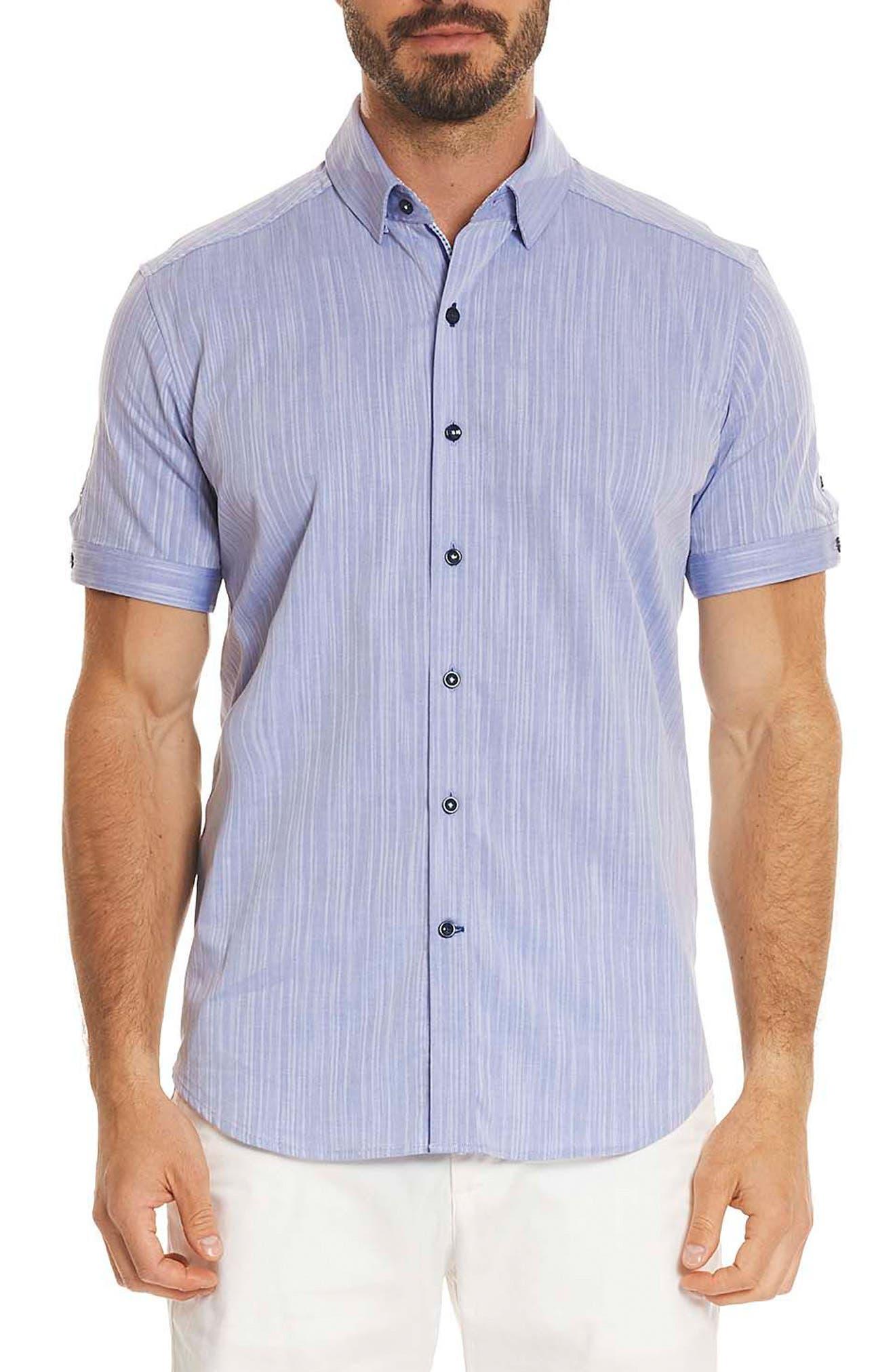 Livingston Regular Fit Short Sleeve Sport Shirt,                             Main thumbnail 2, color,
