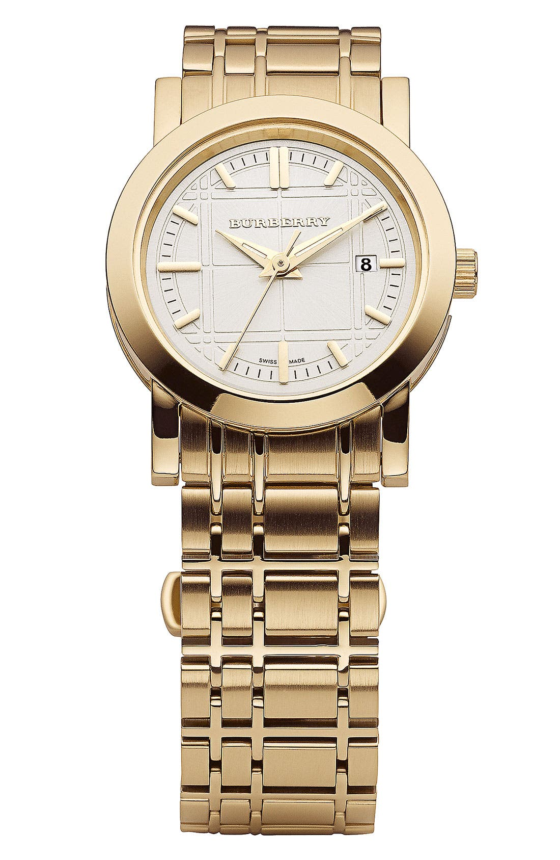 Gold Plated Bracelet Watch, 28mm,                             Main thumbnail 1, color,                             710