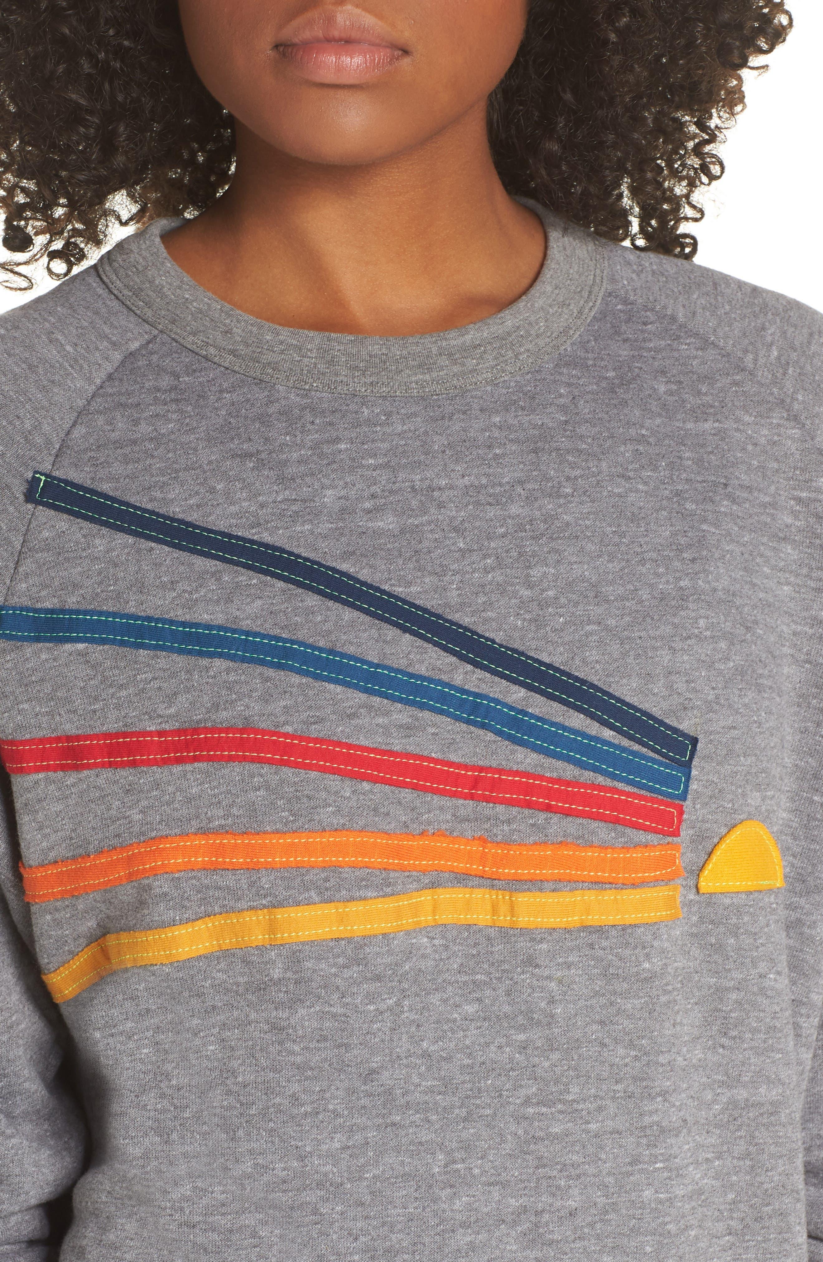 Daydream Sweatshirt,                             Alternate thumbnail 4, color,                             HEATHER GREY