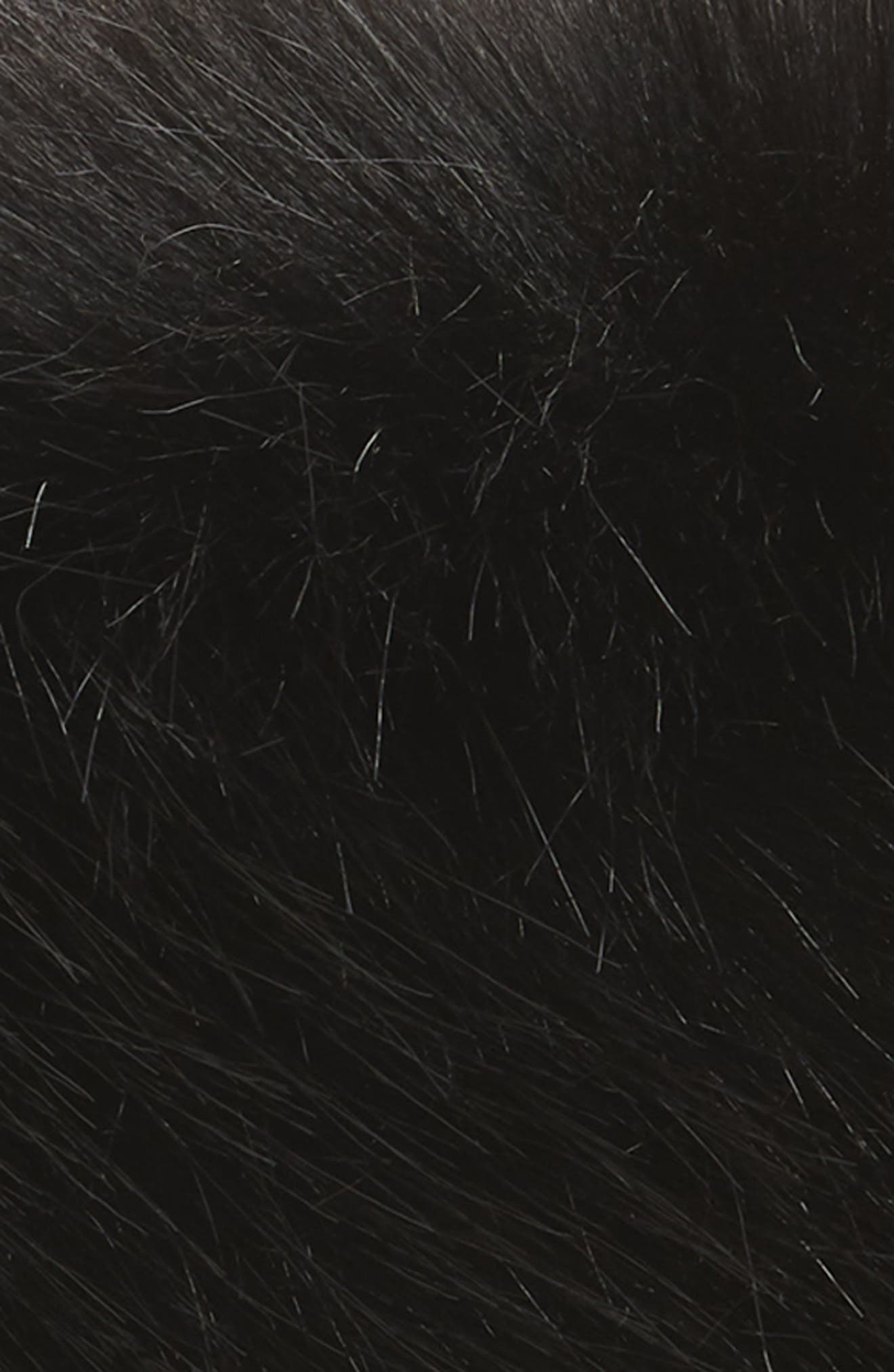 Faux Fur Hat,                             Alternate thumbnail 2, color,                             BLACK