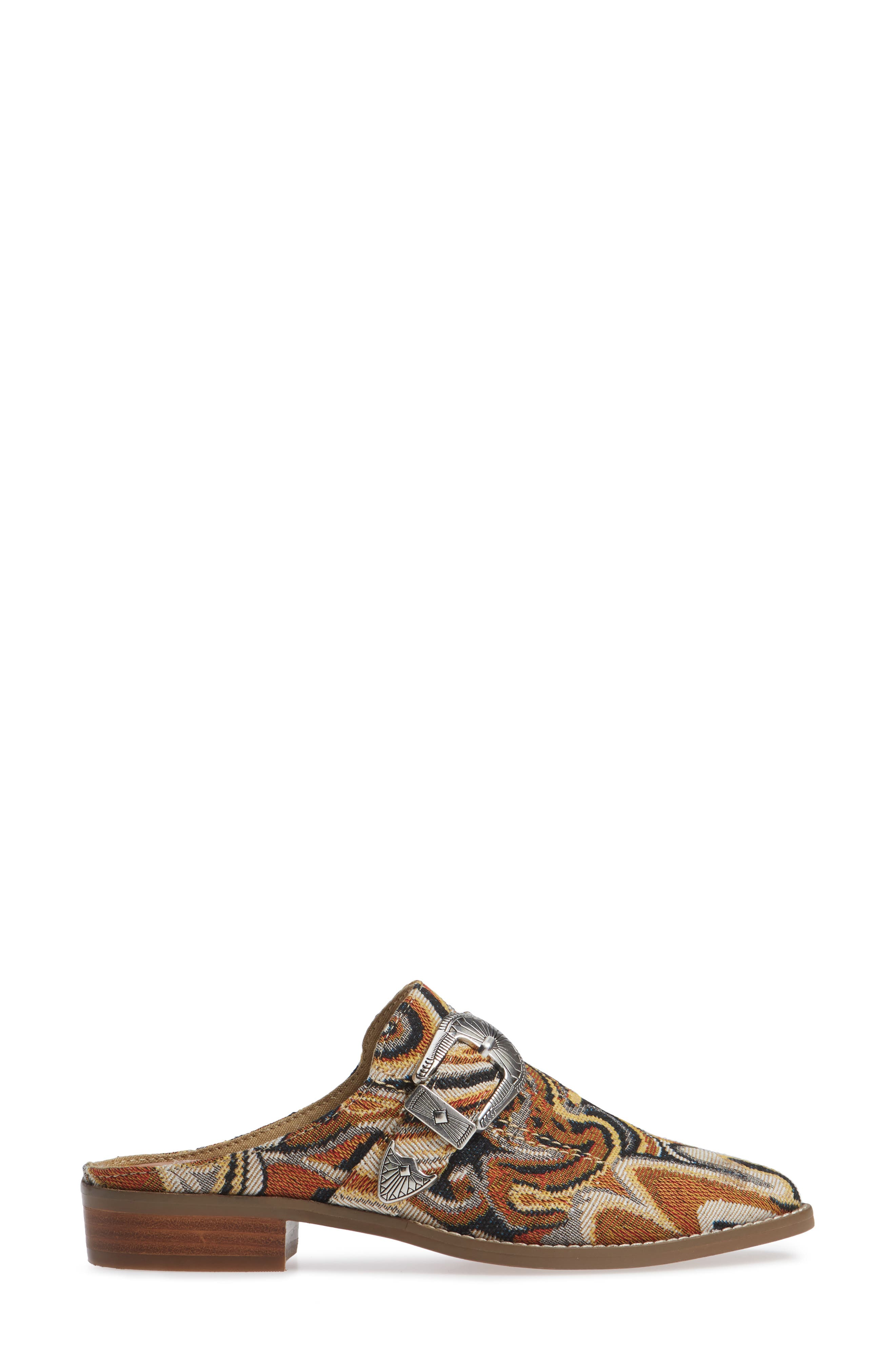 Greta Mule,                             Alternate thumbnail 3, color,                             JACQUARD SWIRL NATURAL MULTI