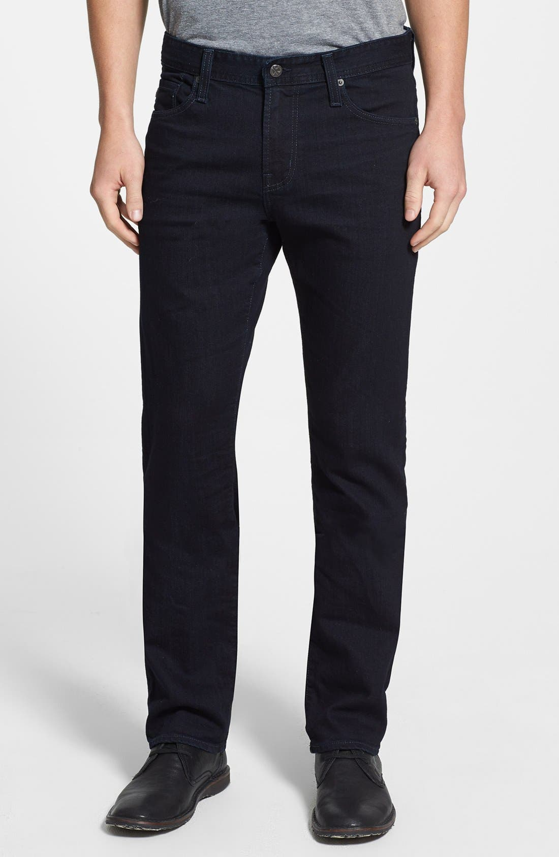 'Graduate' Tailored Fit Straight Leg Jeans, Main, color, 409