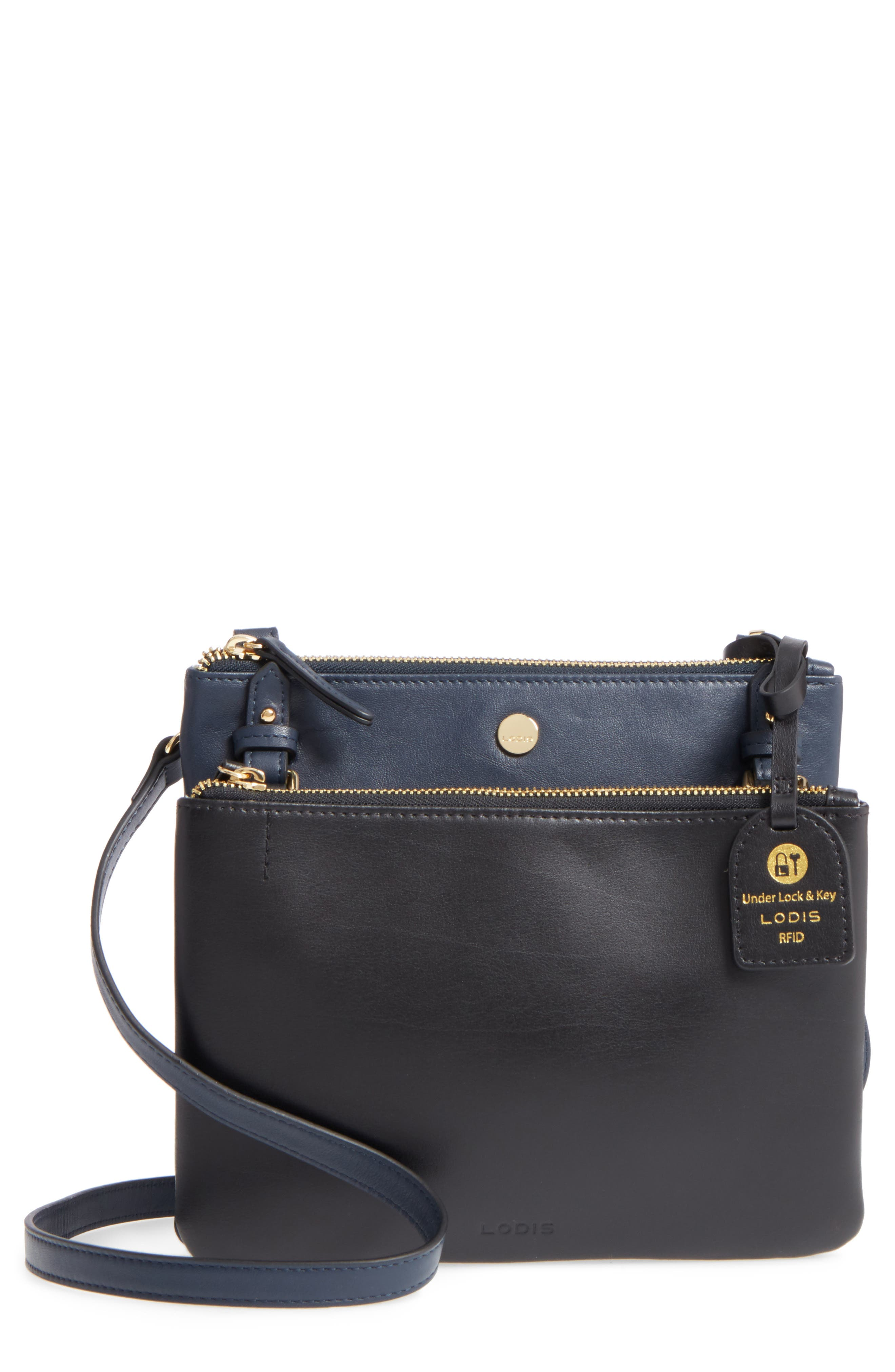 Downtown Latisha RFID Leather Crossbody,                             Main thumbnail 2, color,