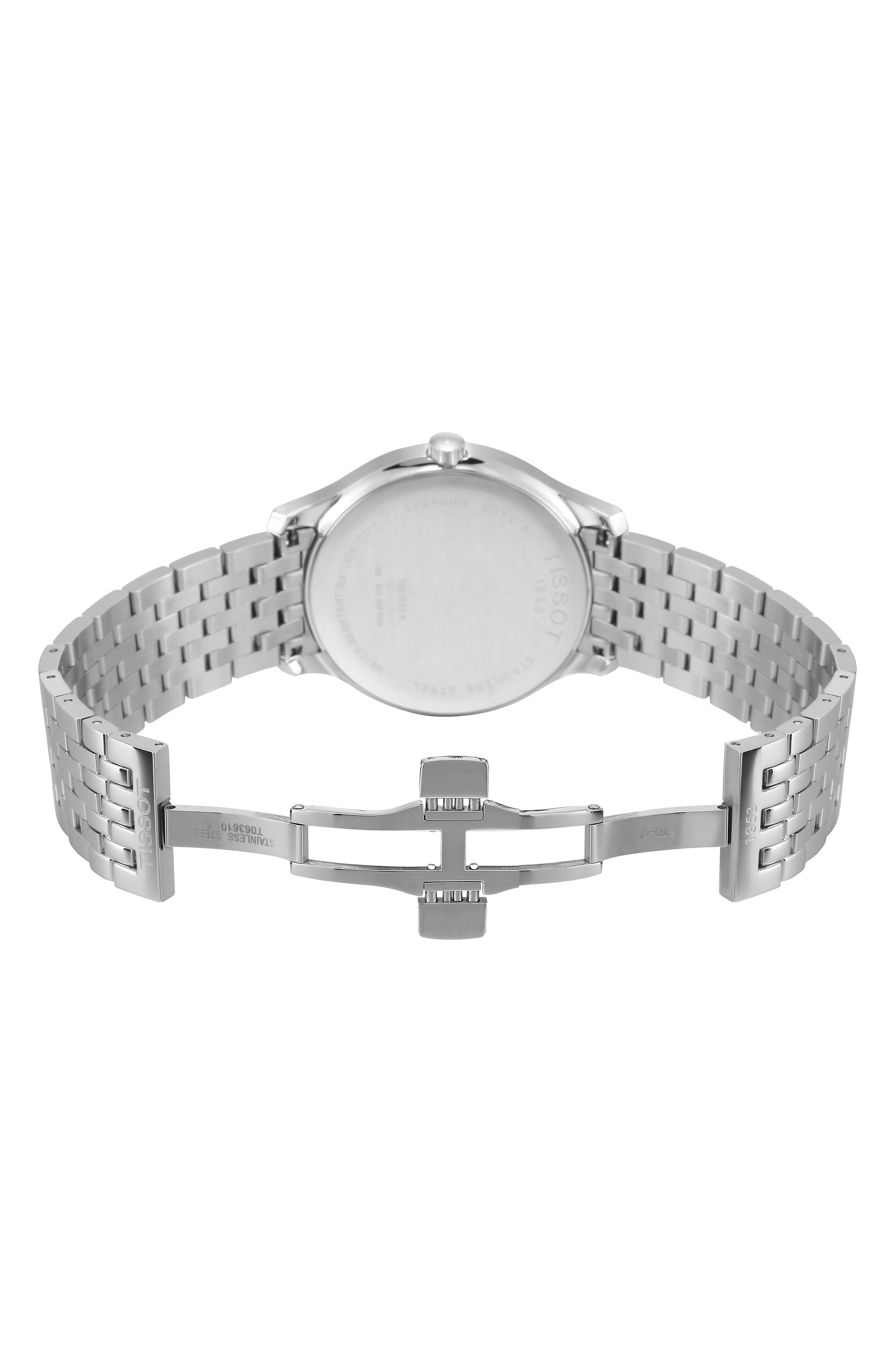 Tradition Bracelet Watch, 42mm,                             Alternate thumbnail 6, color,                             SILVER/ GREY/ SILVER