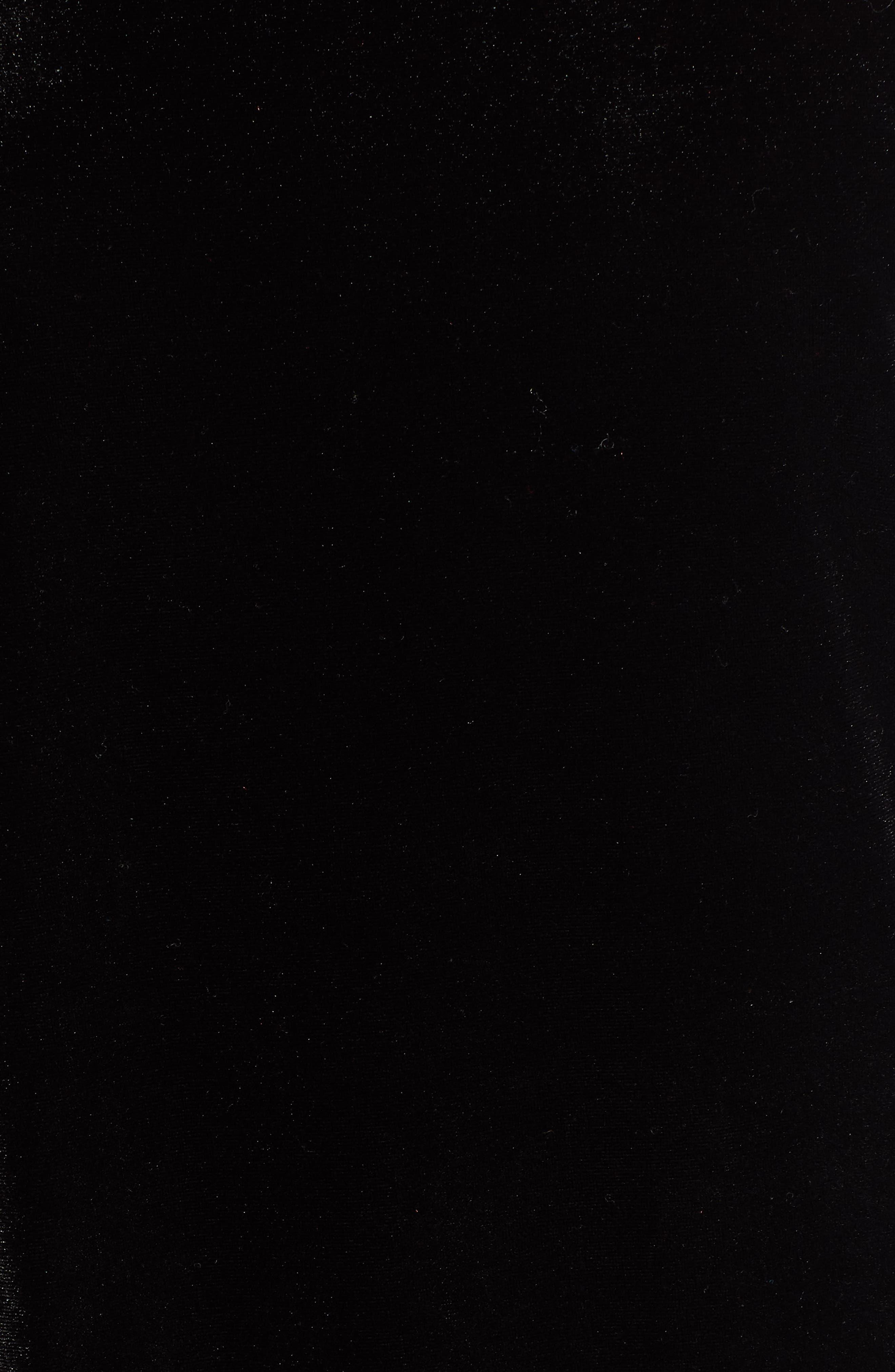 Asymmetrical Velvet Tunic,                             Alternate thumbnail 5, color,                             BLACK