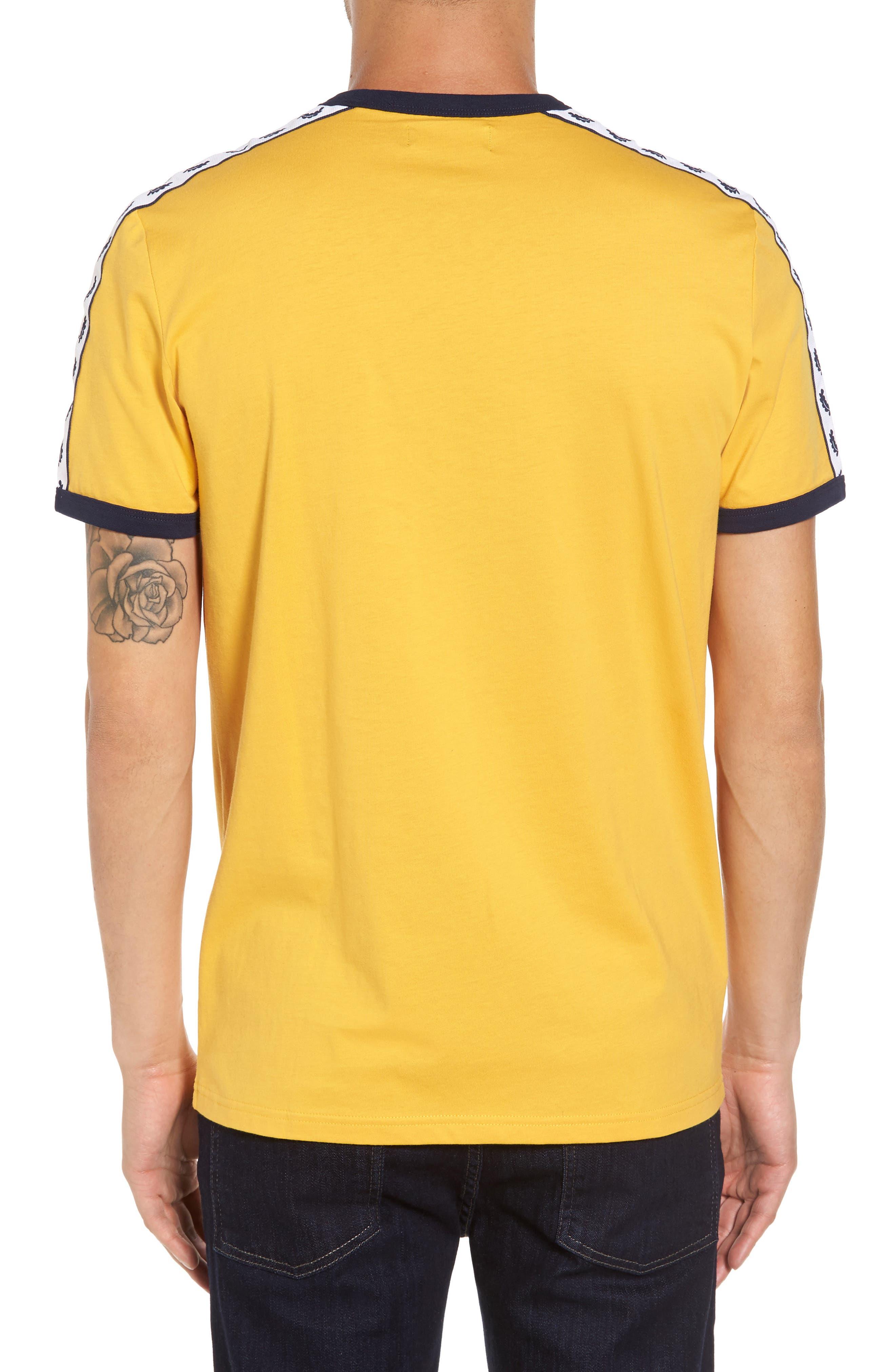 Extra Trim Fit Cotton Ringer T-Shirt,                             Alternate thumbnail 9, color,