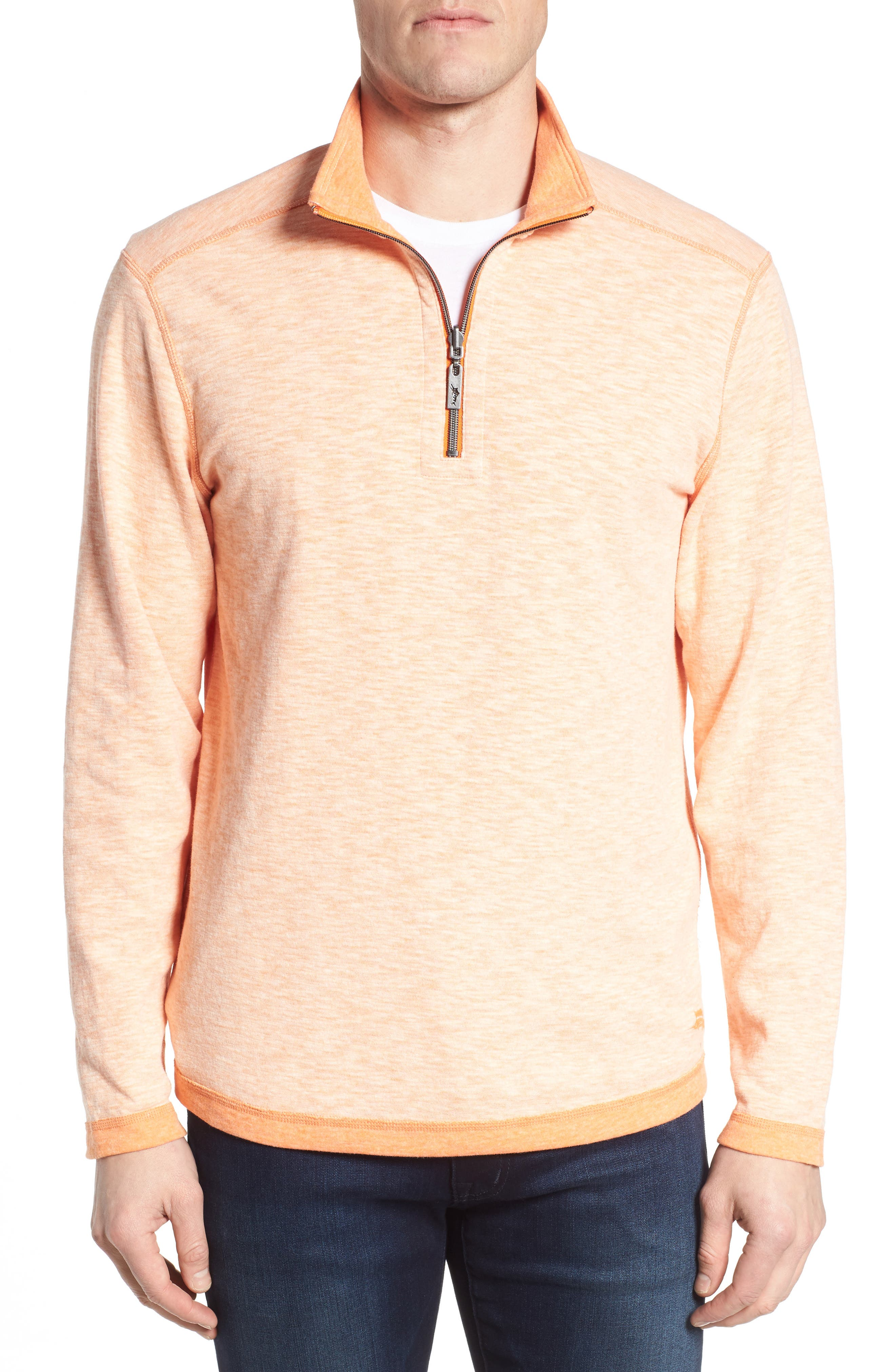 Sea Glass Reversible Quarter Zip Pullover,                             Main thumbnail 6, color,