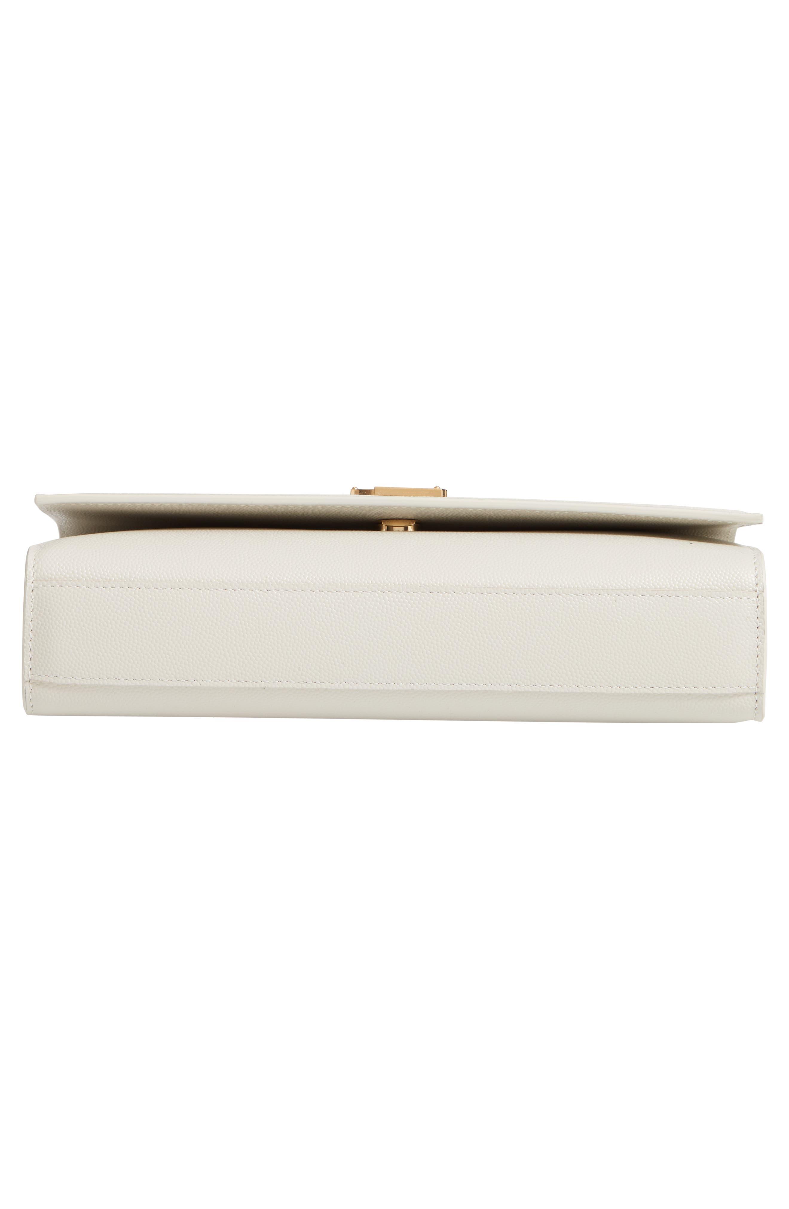 'Medium Kate' Leather Chain Shoulder Bag,                             Alternate thumbnail 6, color,                             CREMASOFT