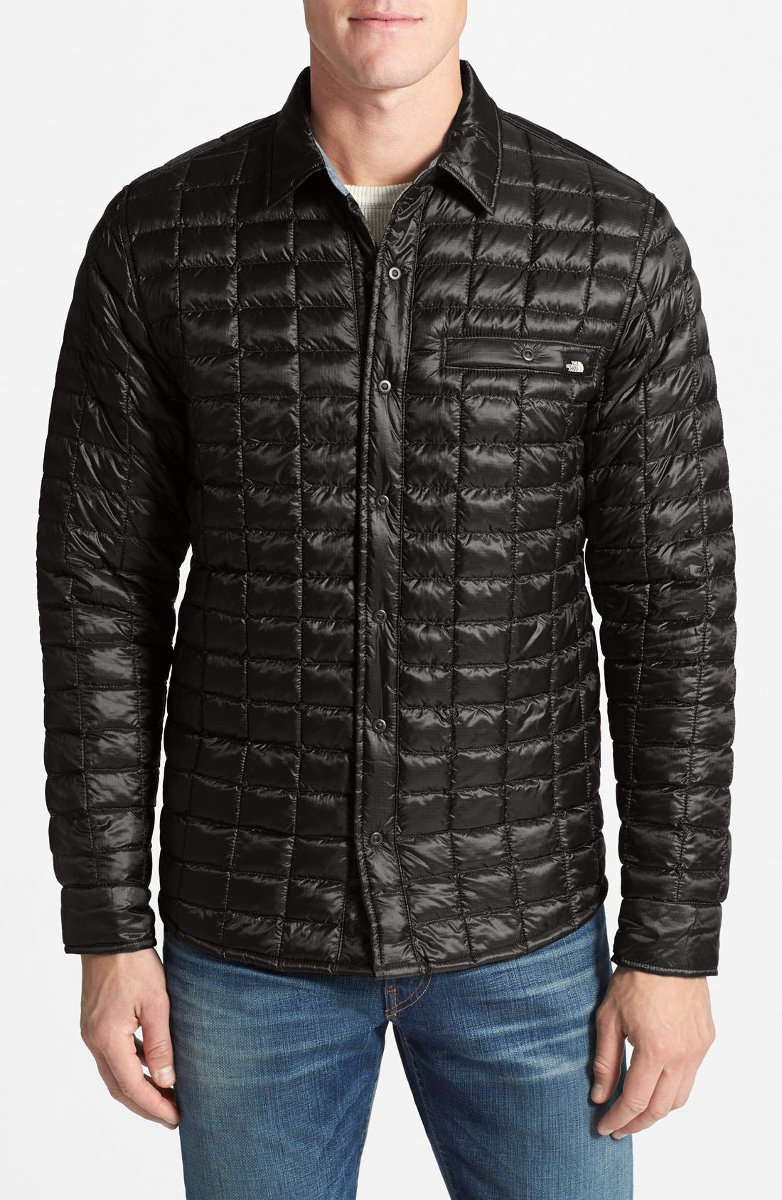 'Reyes' ThermoBall Shirt Jacket, Main, color, 001