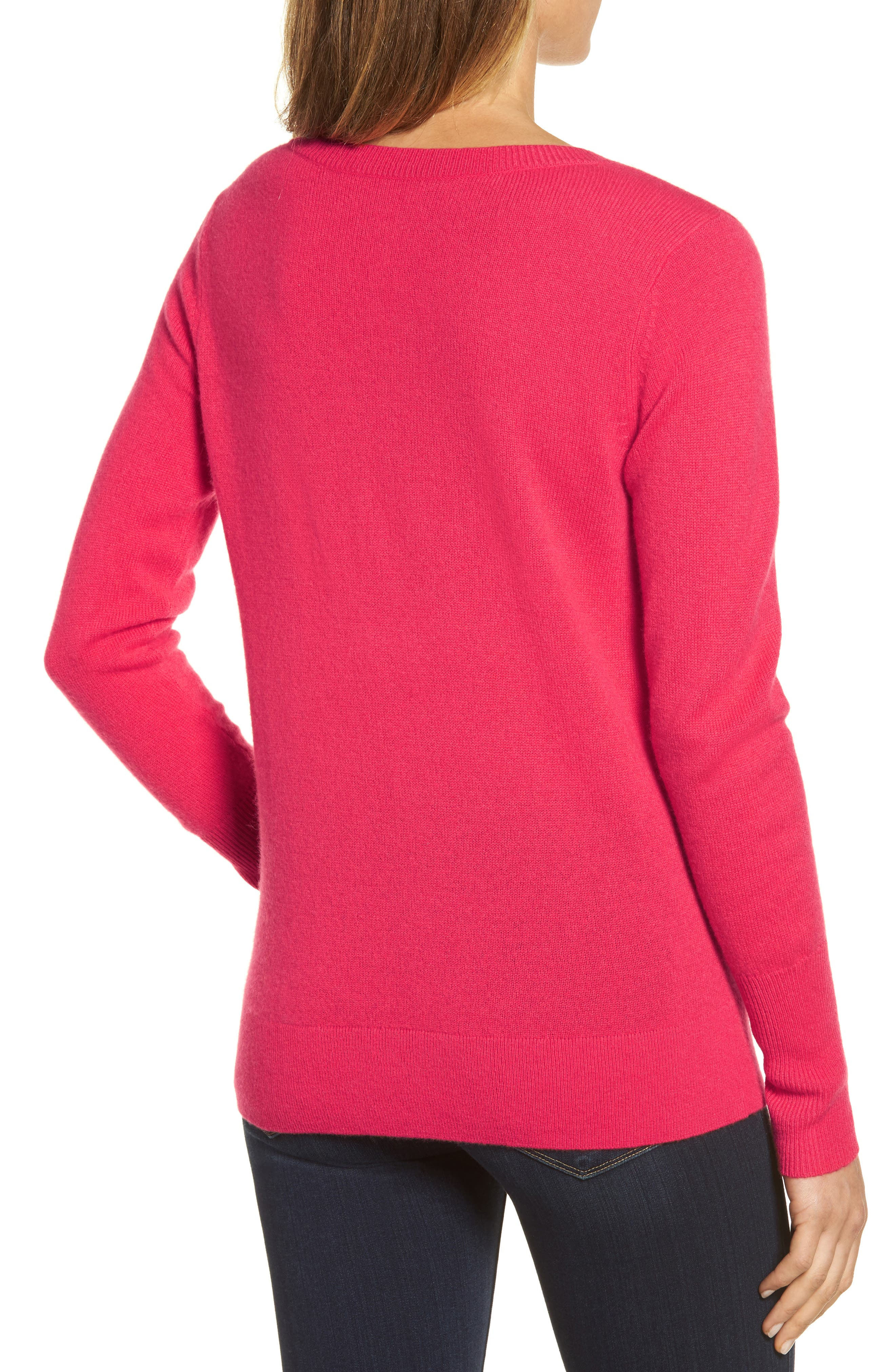 V-Neck Cashmere Sweater,                             Alternate thumbnail 28, color,