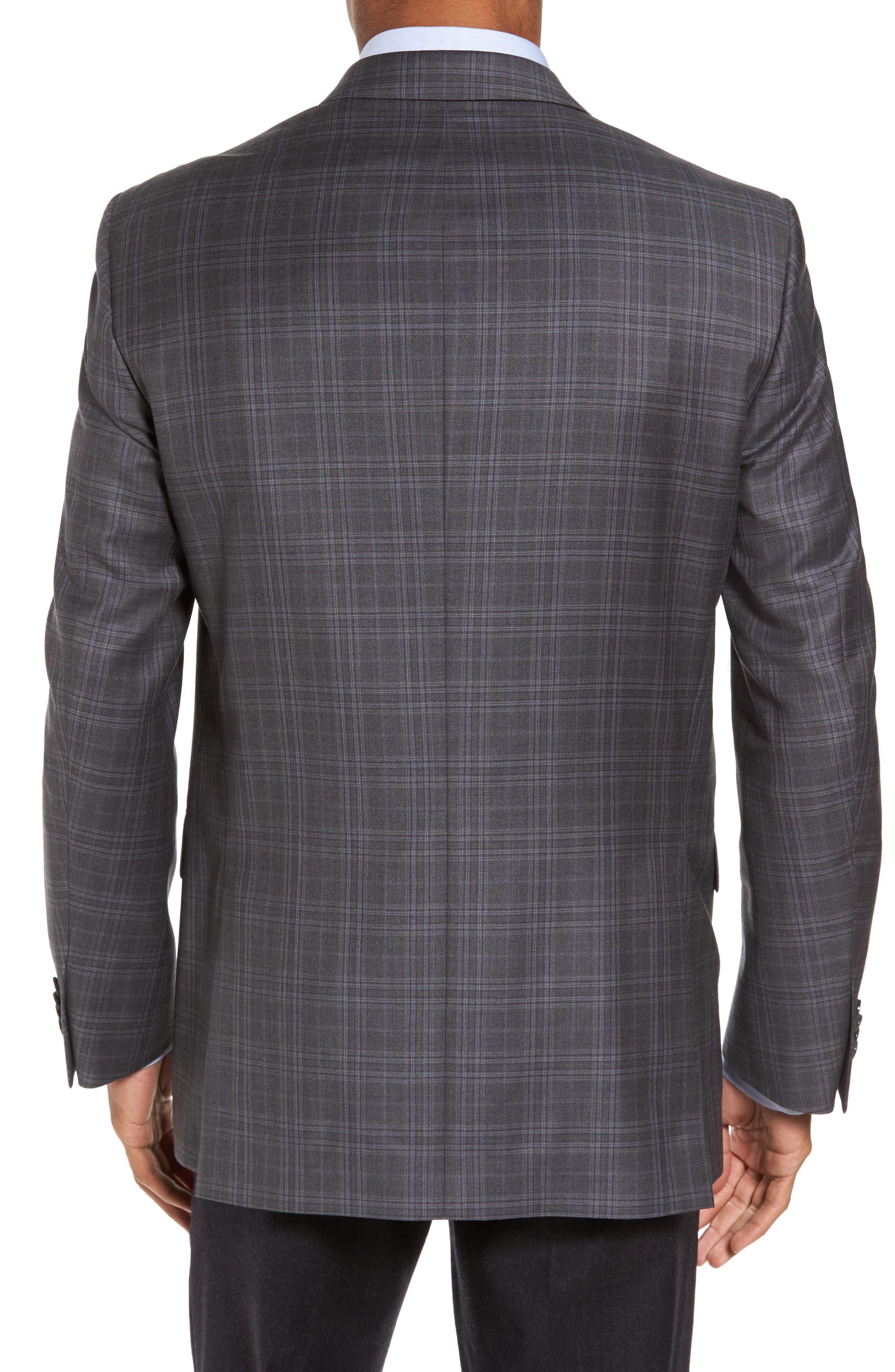 Flynn Classic Fit Plaid Wool Sport Coat,                             Alternate thumbnail 2, color,                             020
