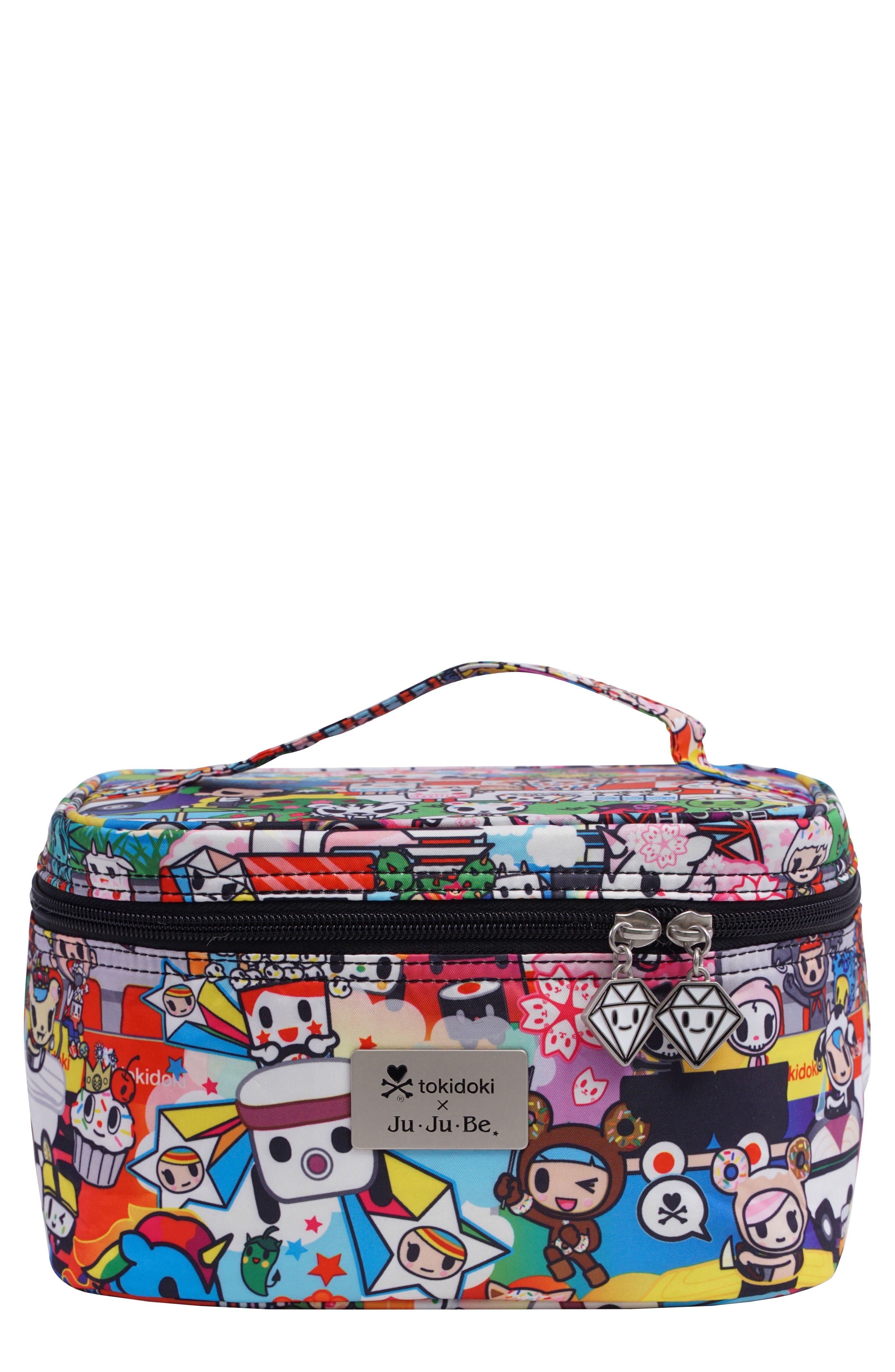 x tokidoki Be Ready Cosmetics Travel Case,                             Main thumbnail 1, color,                             SUSHI CARS