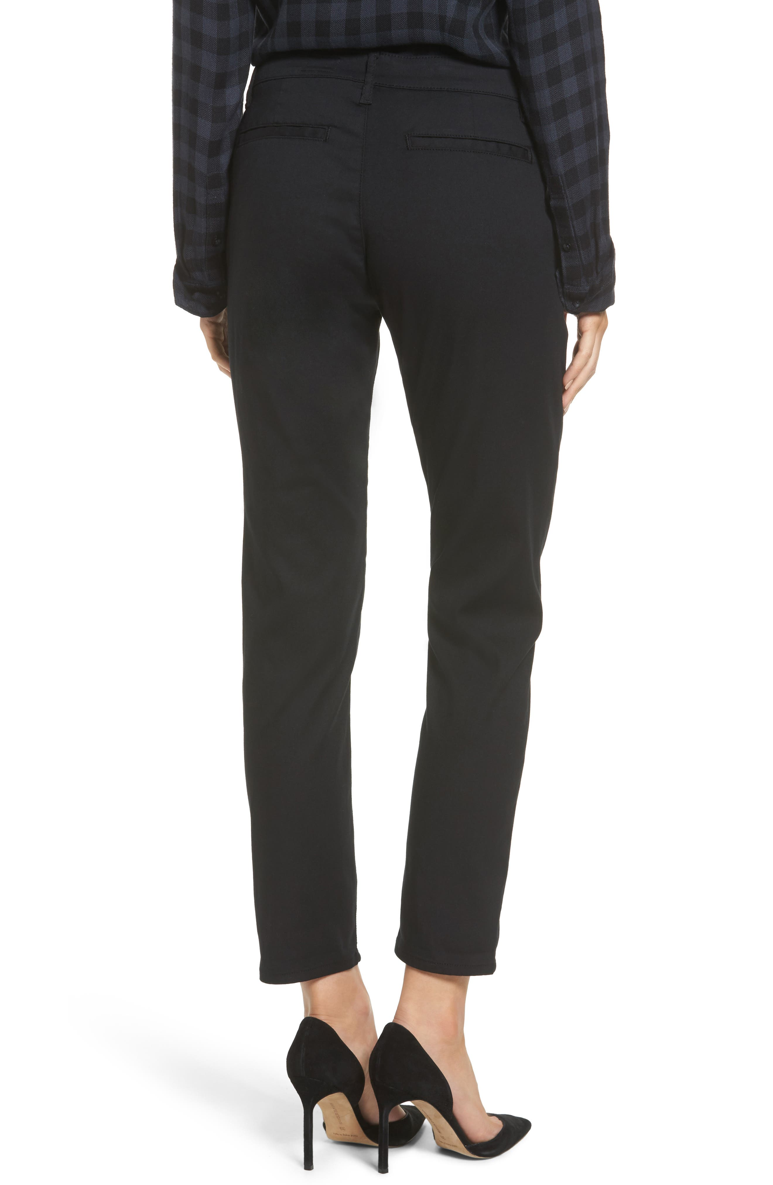 The Caden Crop Slim Trousers,                             Alternate thumbnail 2, color,                             010