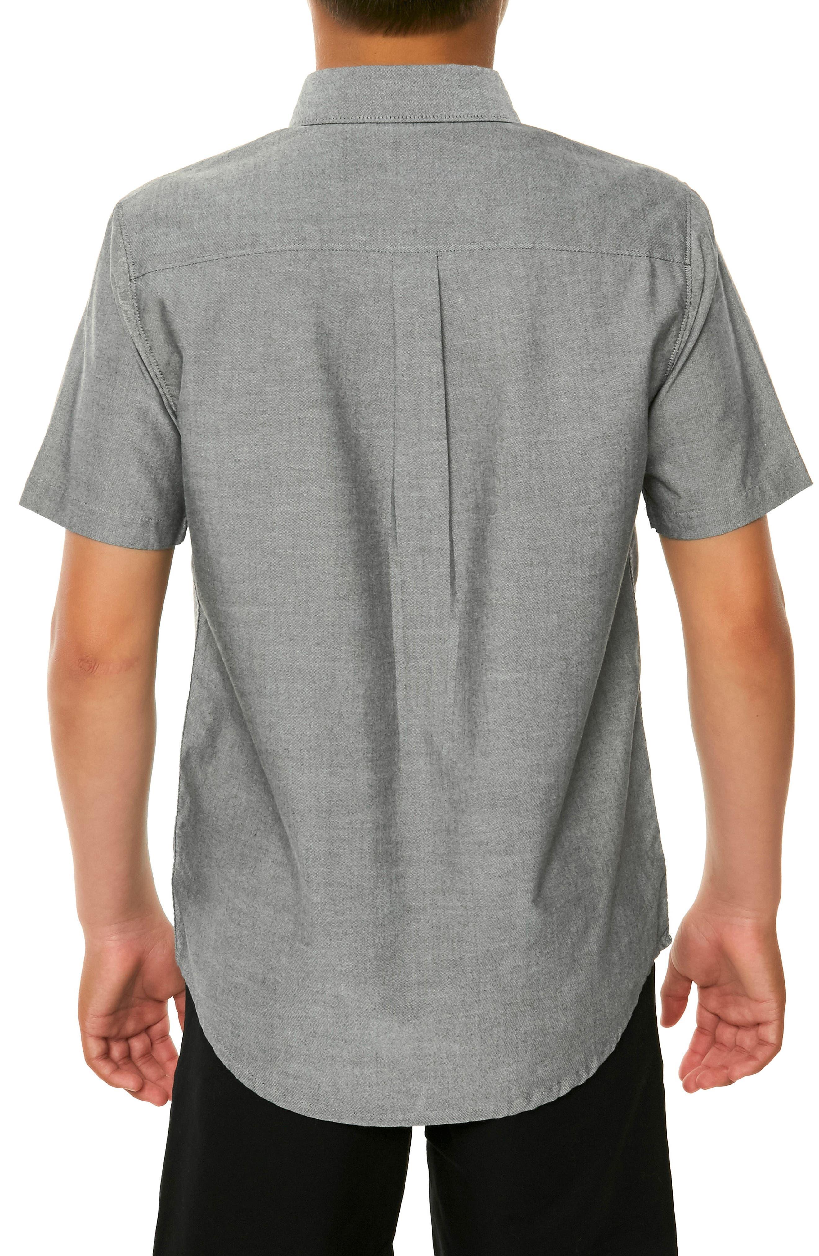 Bank Woven Shirt,                             Alternate thumbnail 3, color,                             001