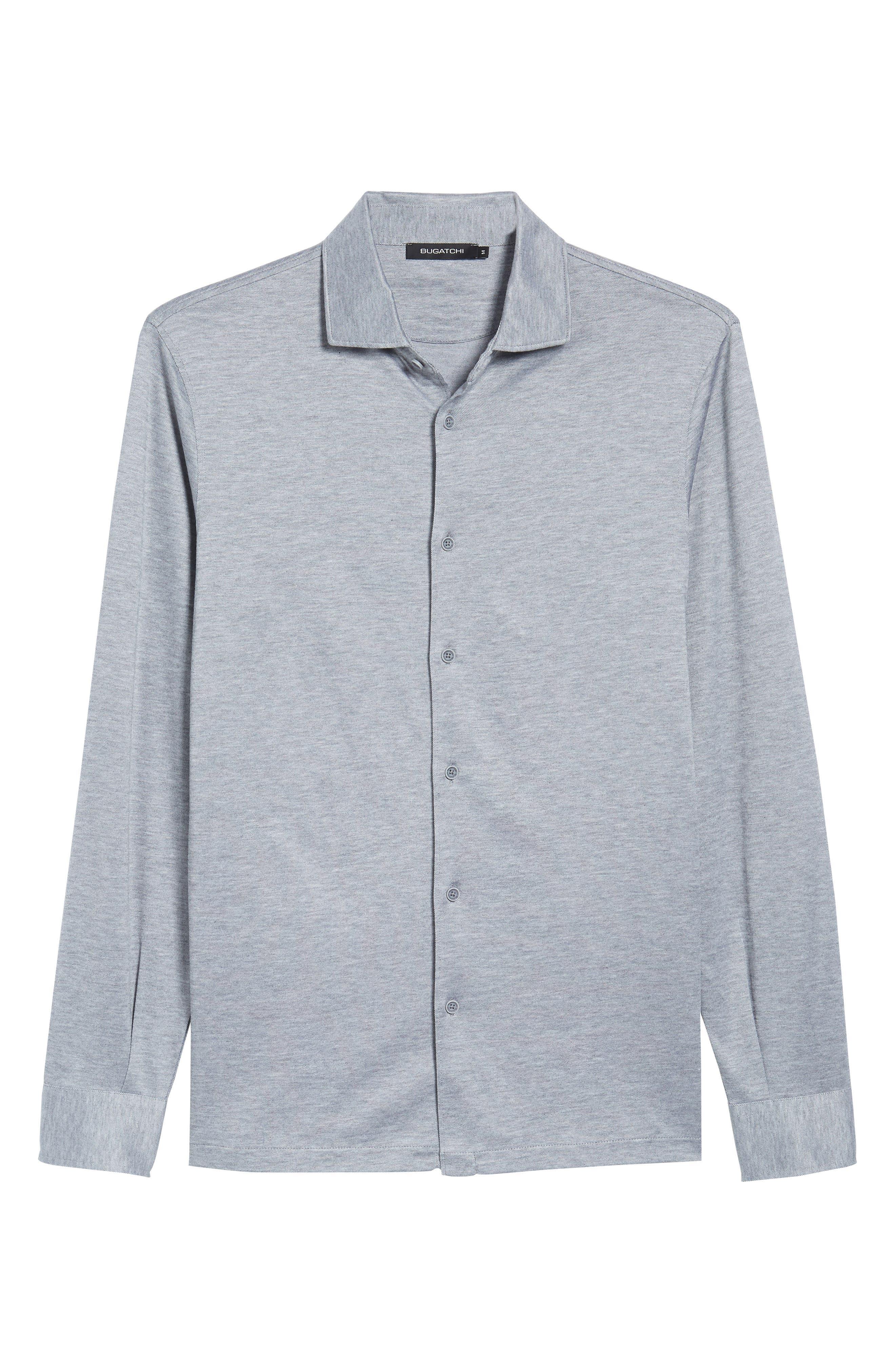 Regular Fit Silk Blend Sport Shirt,                             Alternate thumbnail 27, color,