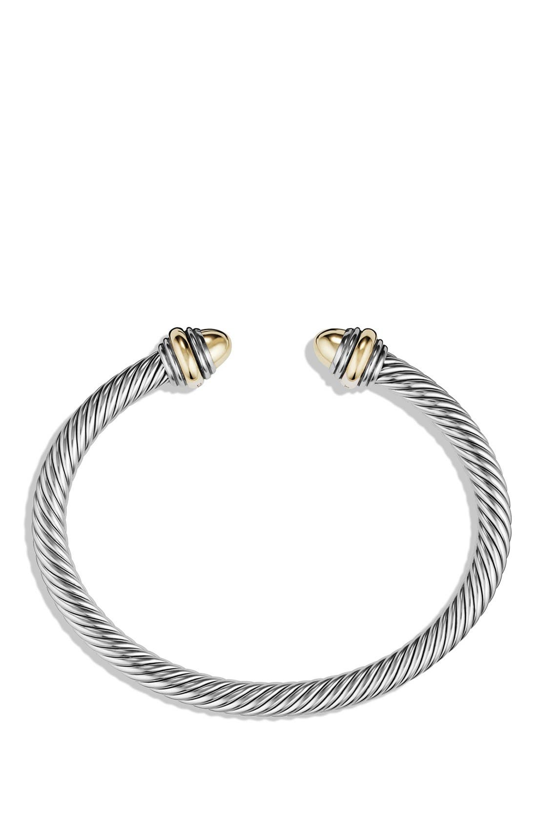 Cable Classics Bracelet with Gold, 5mm,                             Alternate thumbnail 2, color,                             GOLD DOME