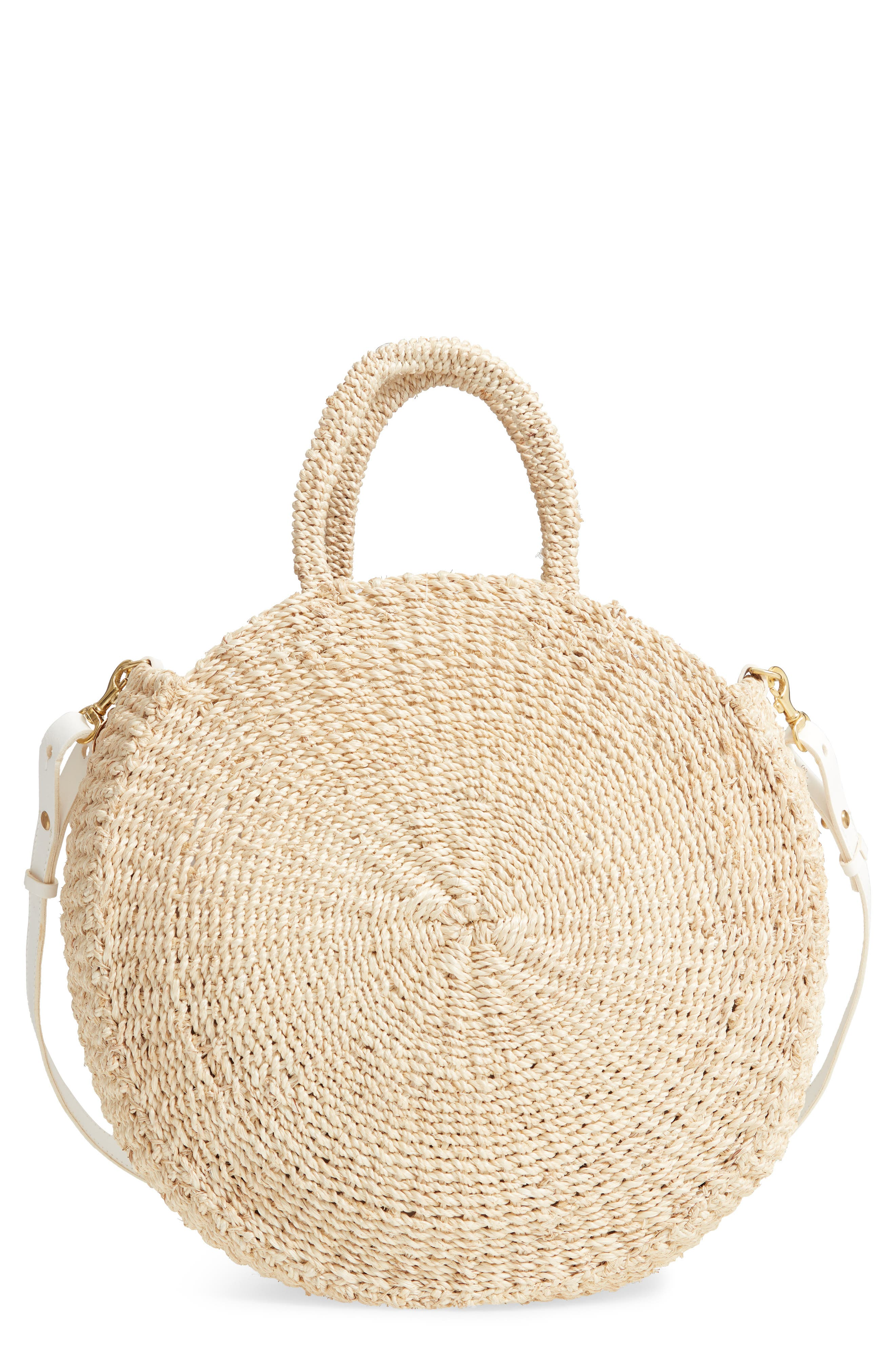 1950s Handbags, Purses, and Evening Bag Styles Clare V. Alice Woven Sisal Straw Bag - $225.00 AT vintagedancer.com