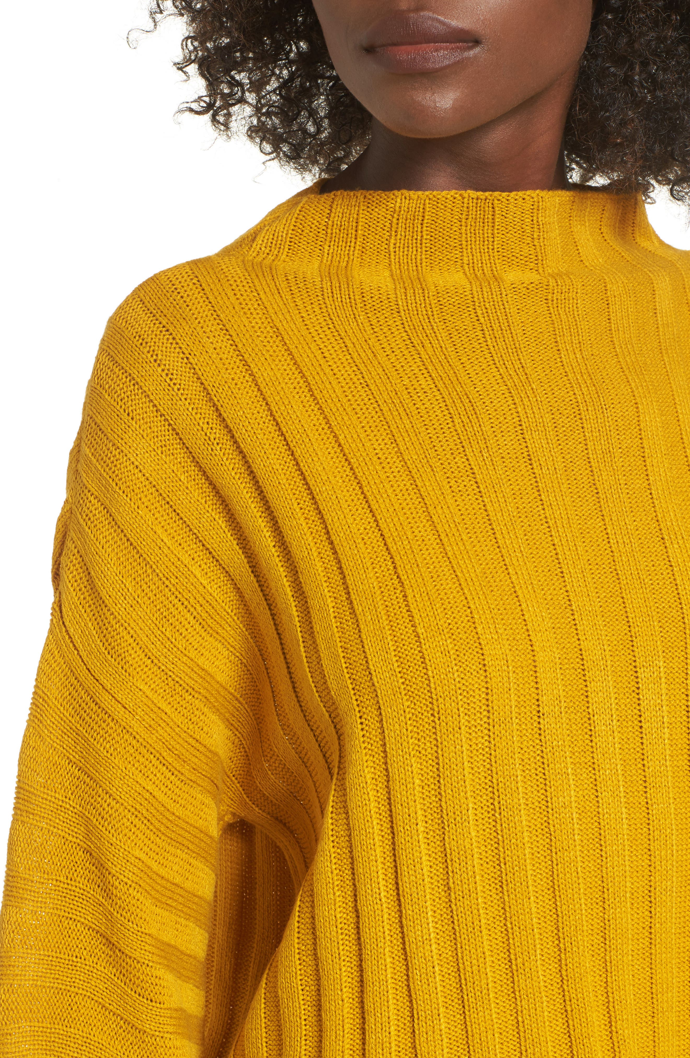 Wide Rib Mock Neck Sweater,                             Alternate thumbnail 4, color,                             315