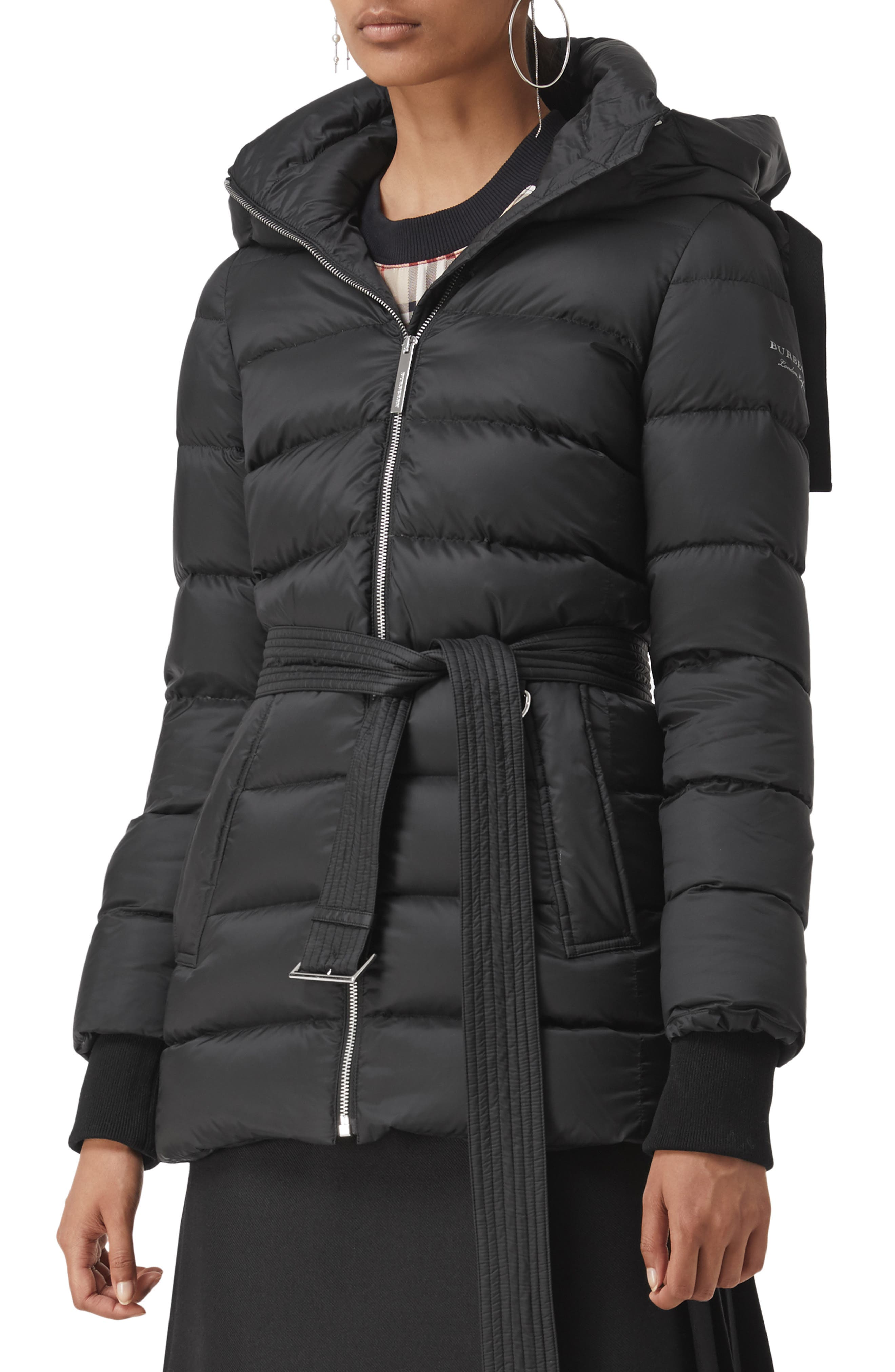 Limehouse Quilted Down Puffer Coat,                             Main thumbnail 1, color,                             BLACK