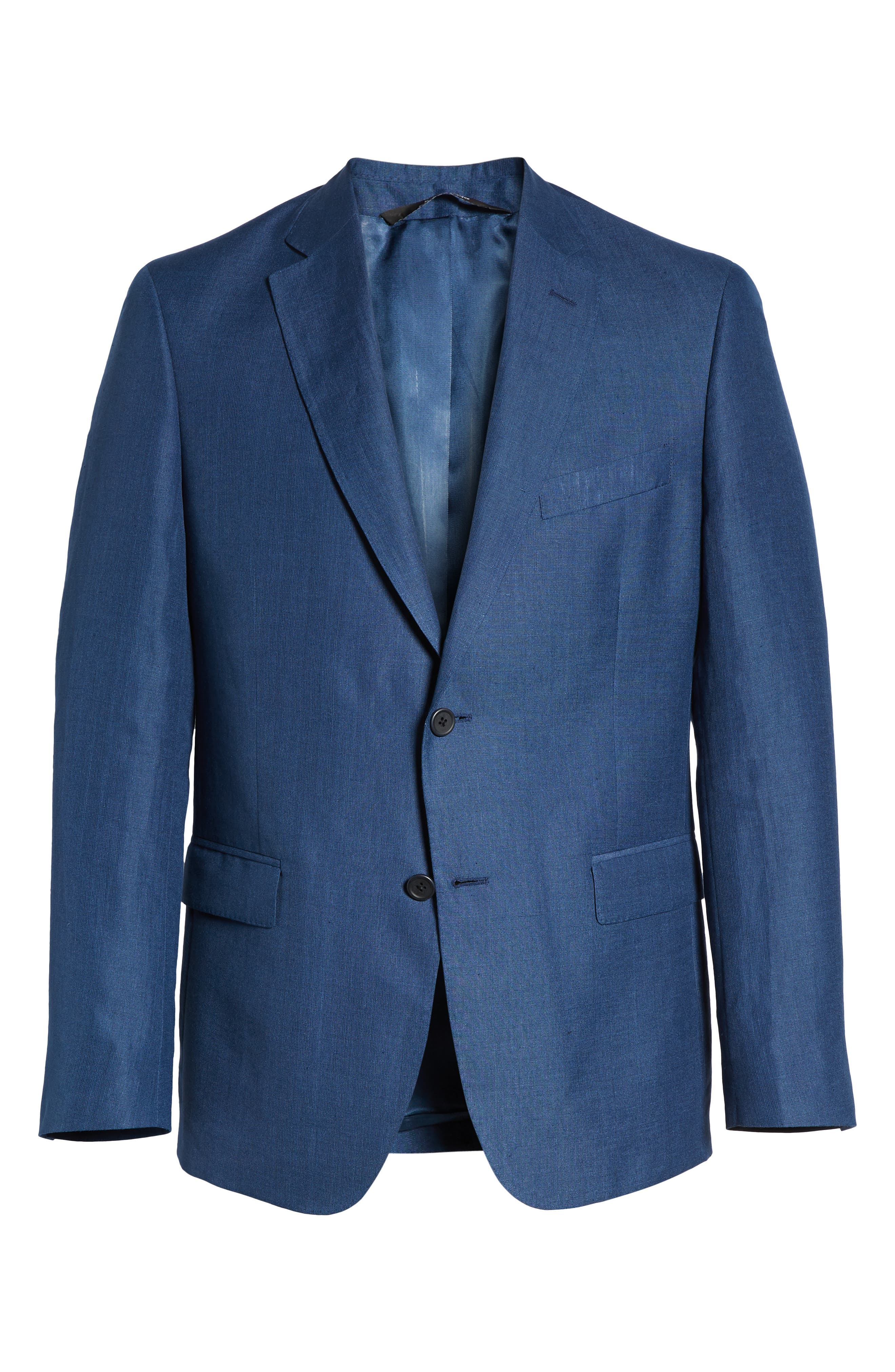 Traditional Fit Linen & Silk Blazer,                             Alternate thumbnail 5, color,                             420