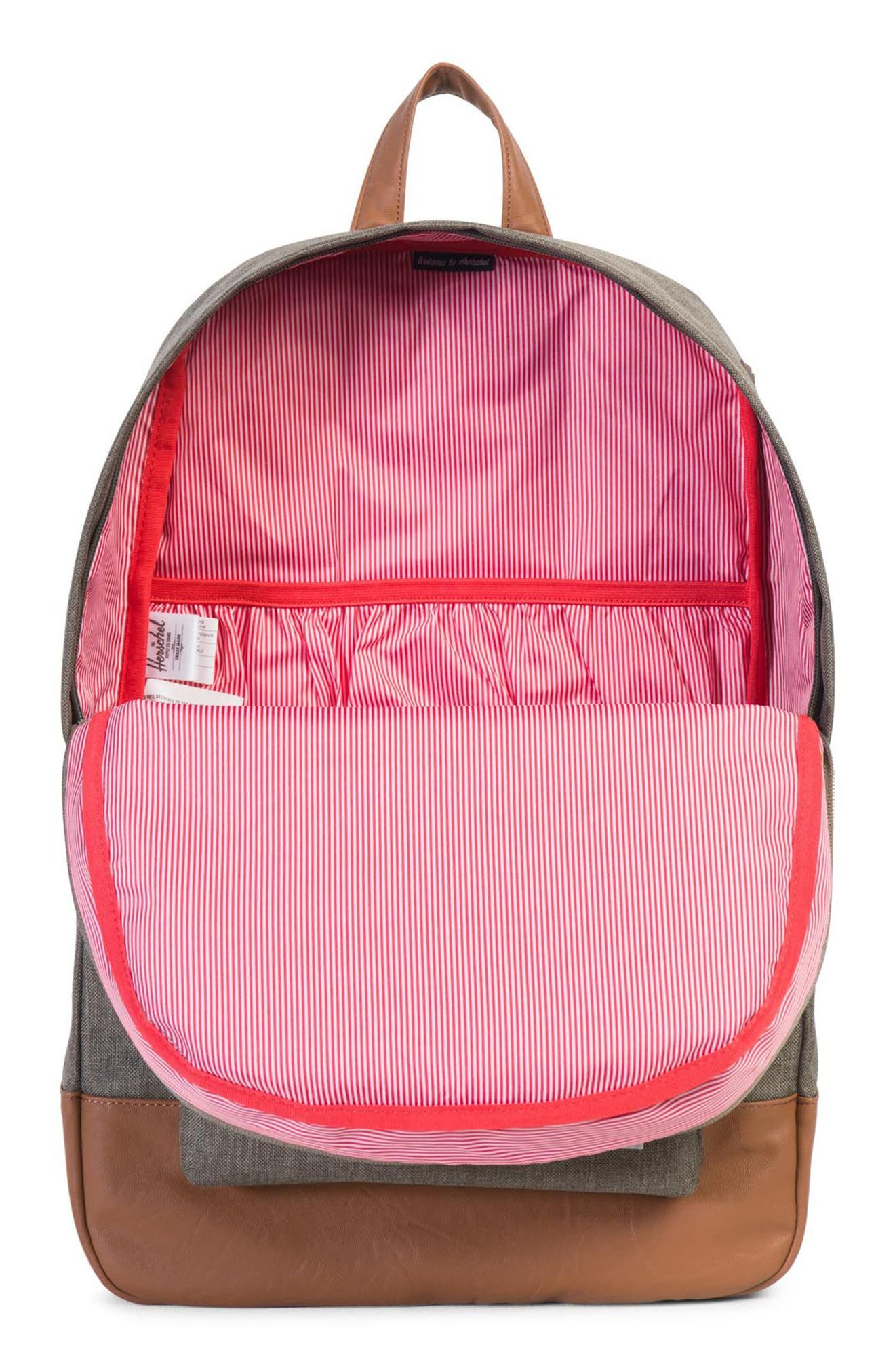 Heritage Backpack,                             Alternate thumbnail 3, color,                             CANTEEN CROSSHATCH/ TAN