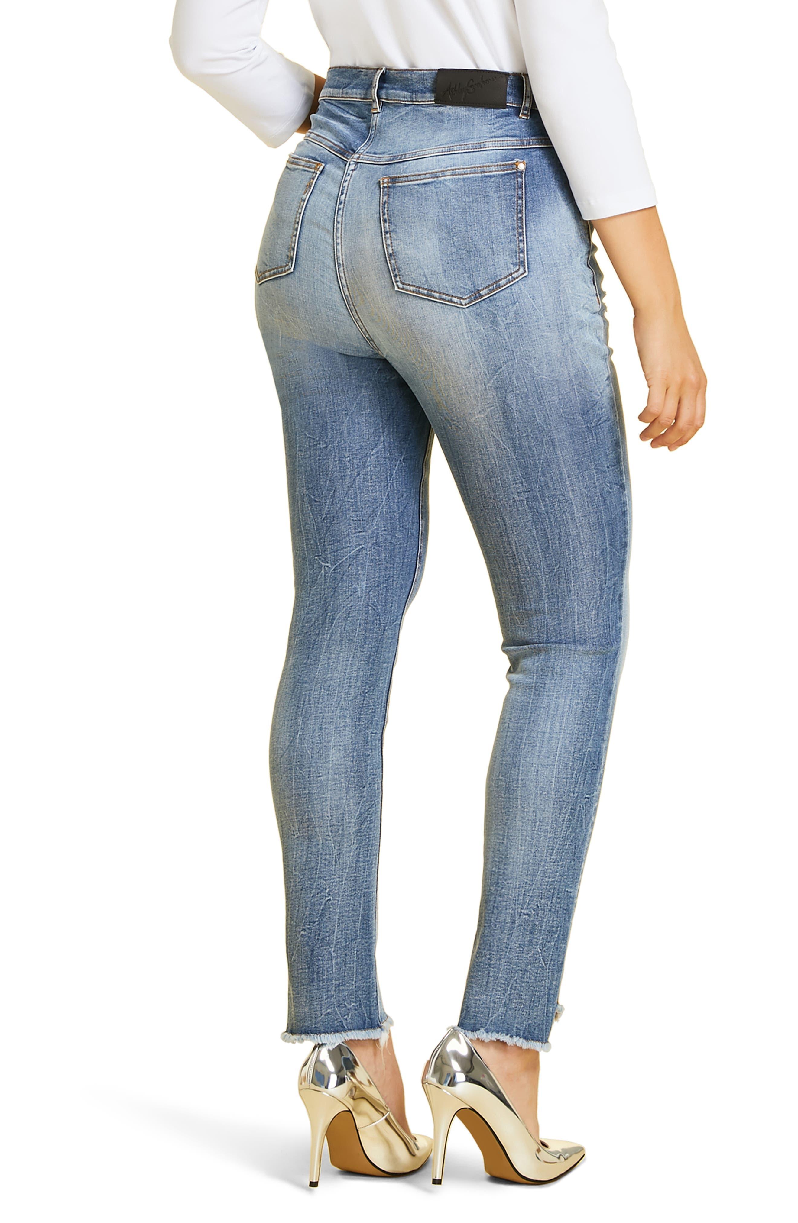 Ideale Step Raw Hem Jeans,                             Alternate thumbnail 2, color,                             400