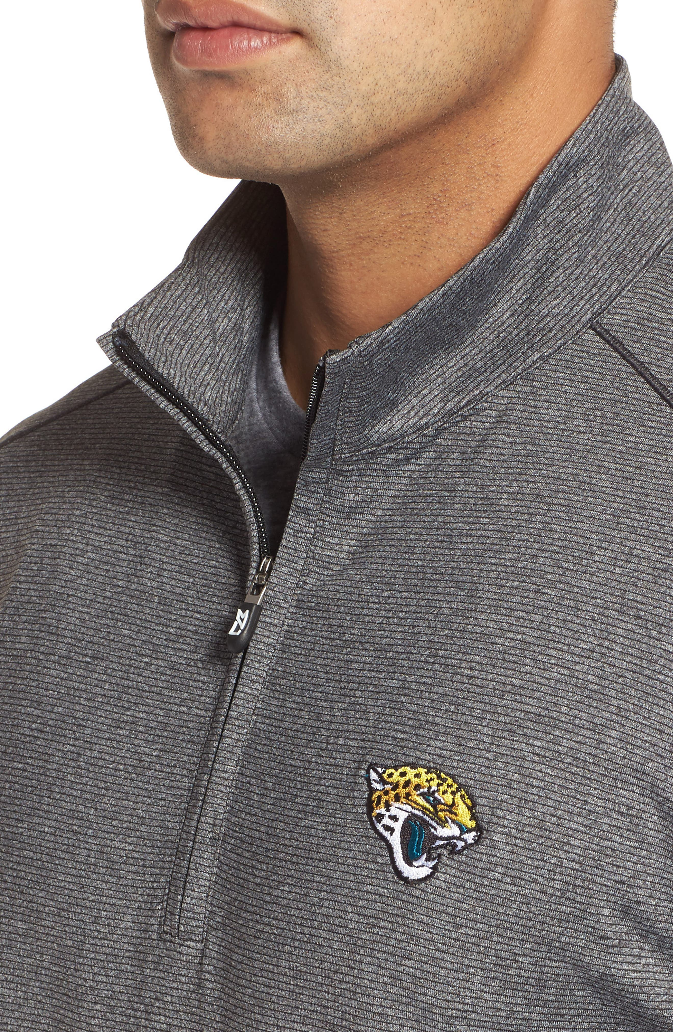 Shoreline - Jacksonville Jaguars Half Zip Pullover,                             Alternate thumbnail 4, color,