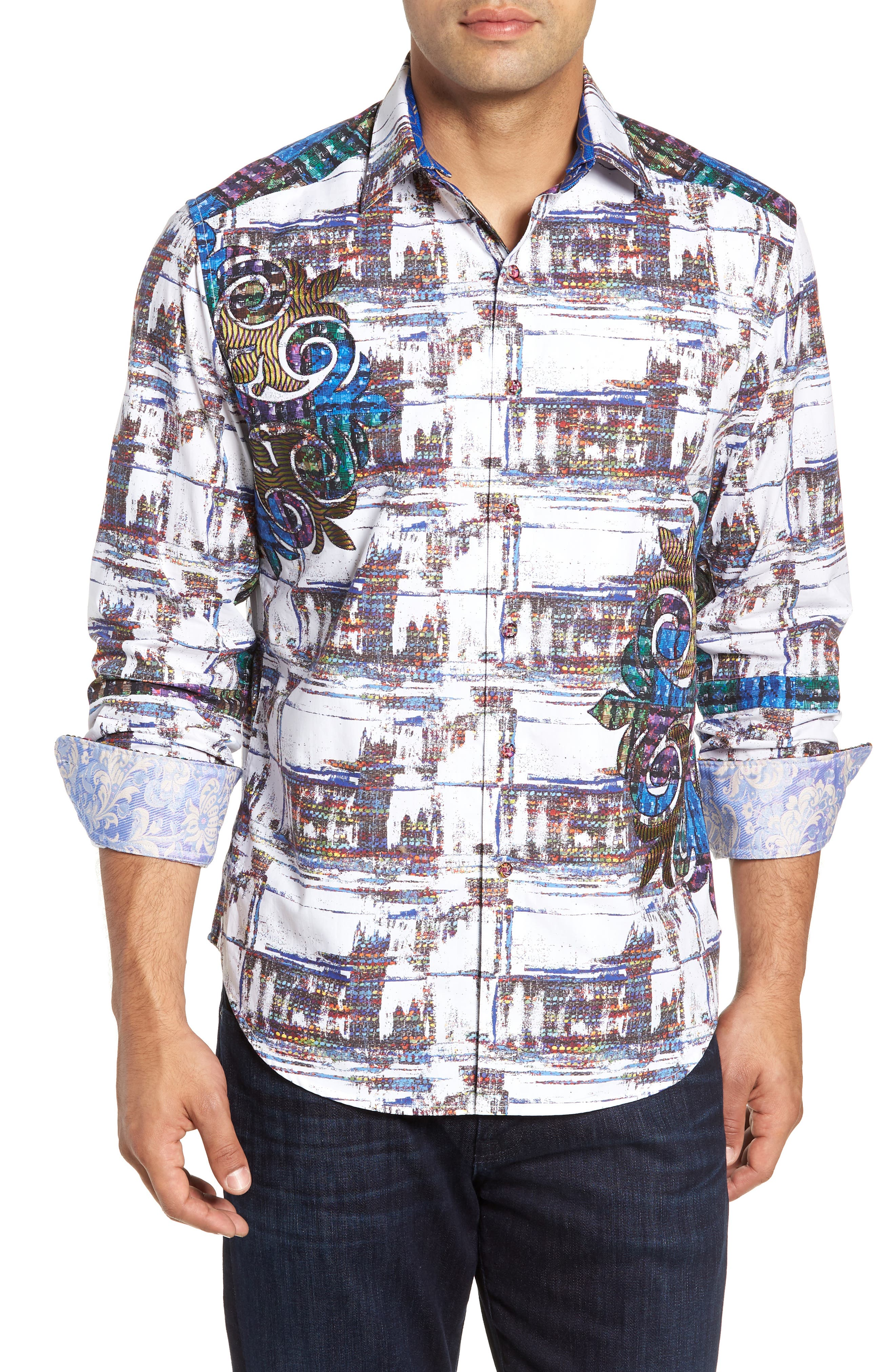 Distinct Palate Limited Edition Classic Fit Sport Shirt,                             Main thumbnail 1, color,                             MULTI