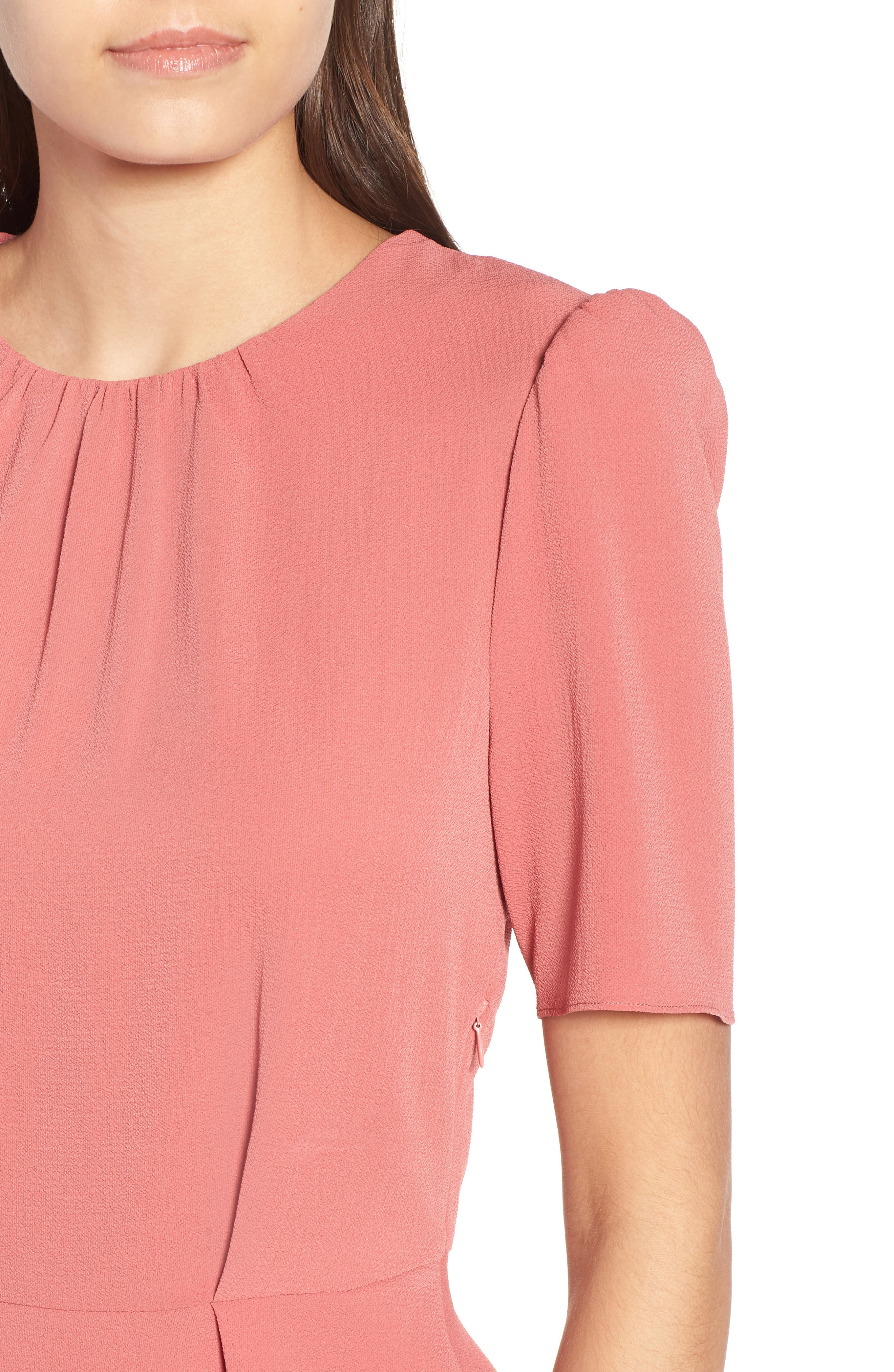 Short Sleeve Peplum Top,                             Alternate thumbnail 4, color,                             600