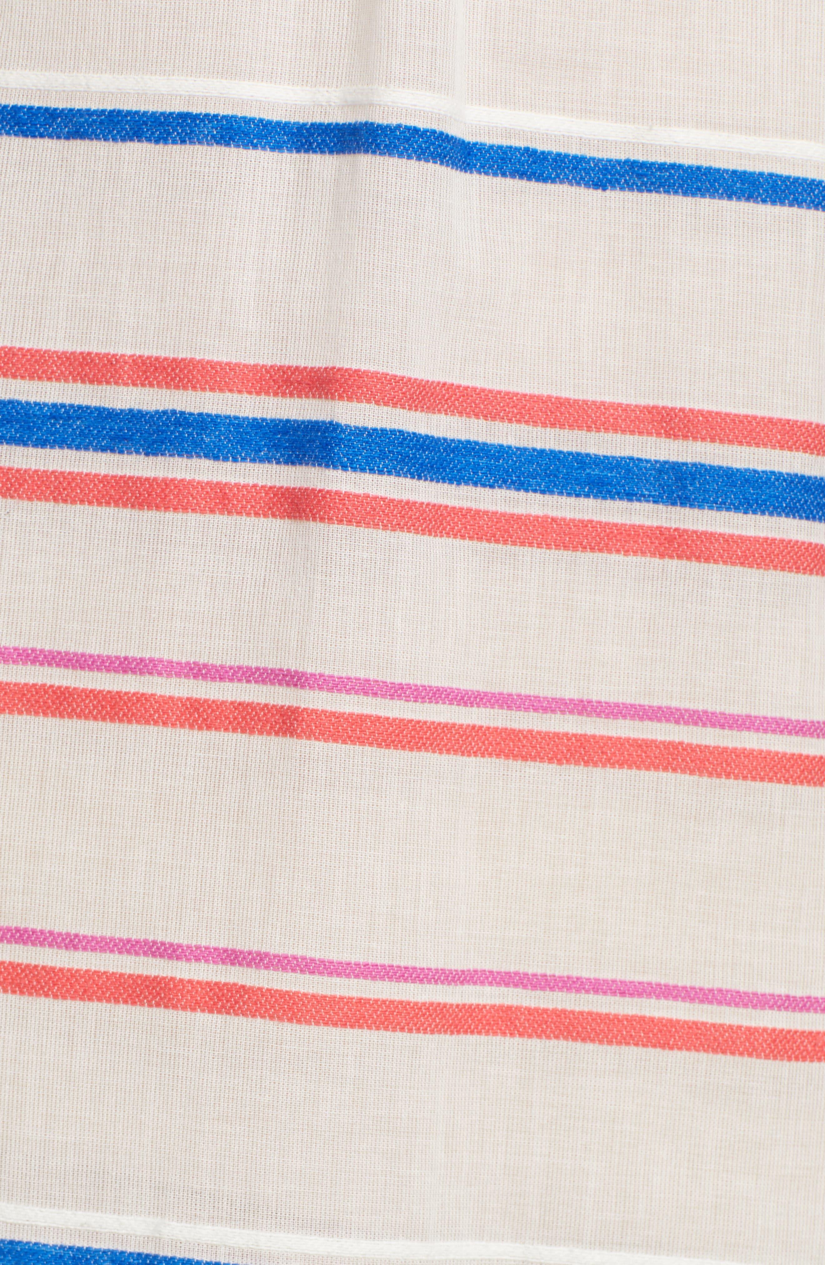 Stripe Caftan Dress,                             Alternate thumbnail 6, color,                             196