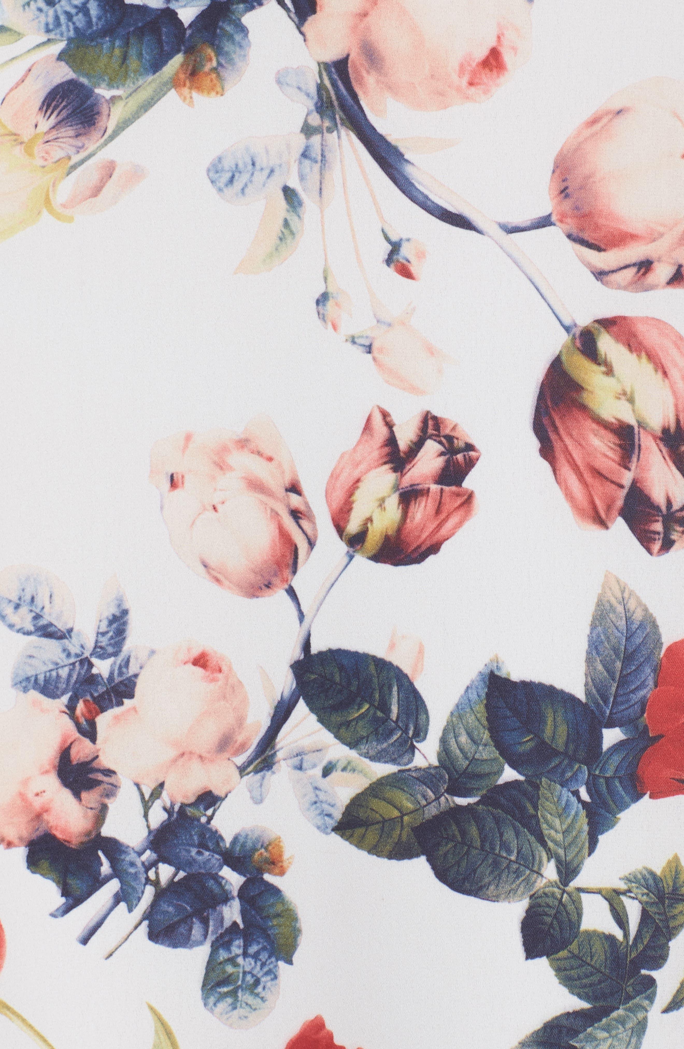 Dobby Midi Dress,                             Alternate thumbnail 5, color,                             111