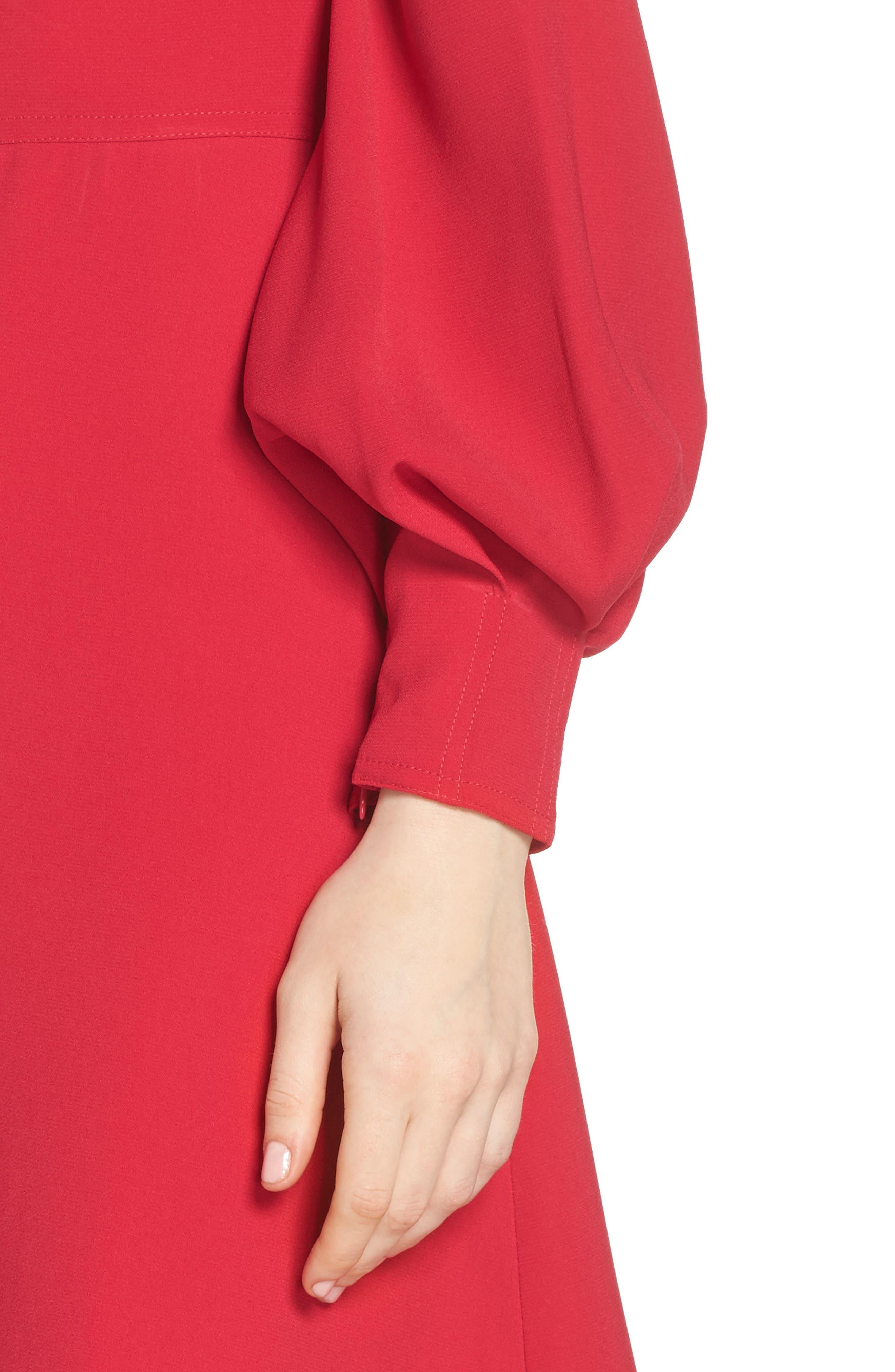 A-Line Dress,                             Alternate thumbnail 4, color,                             PINK