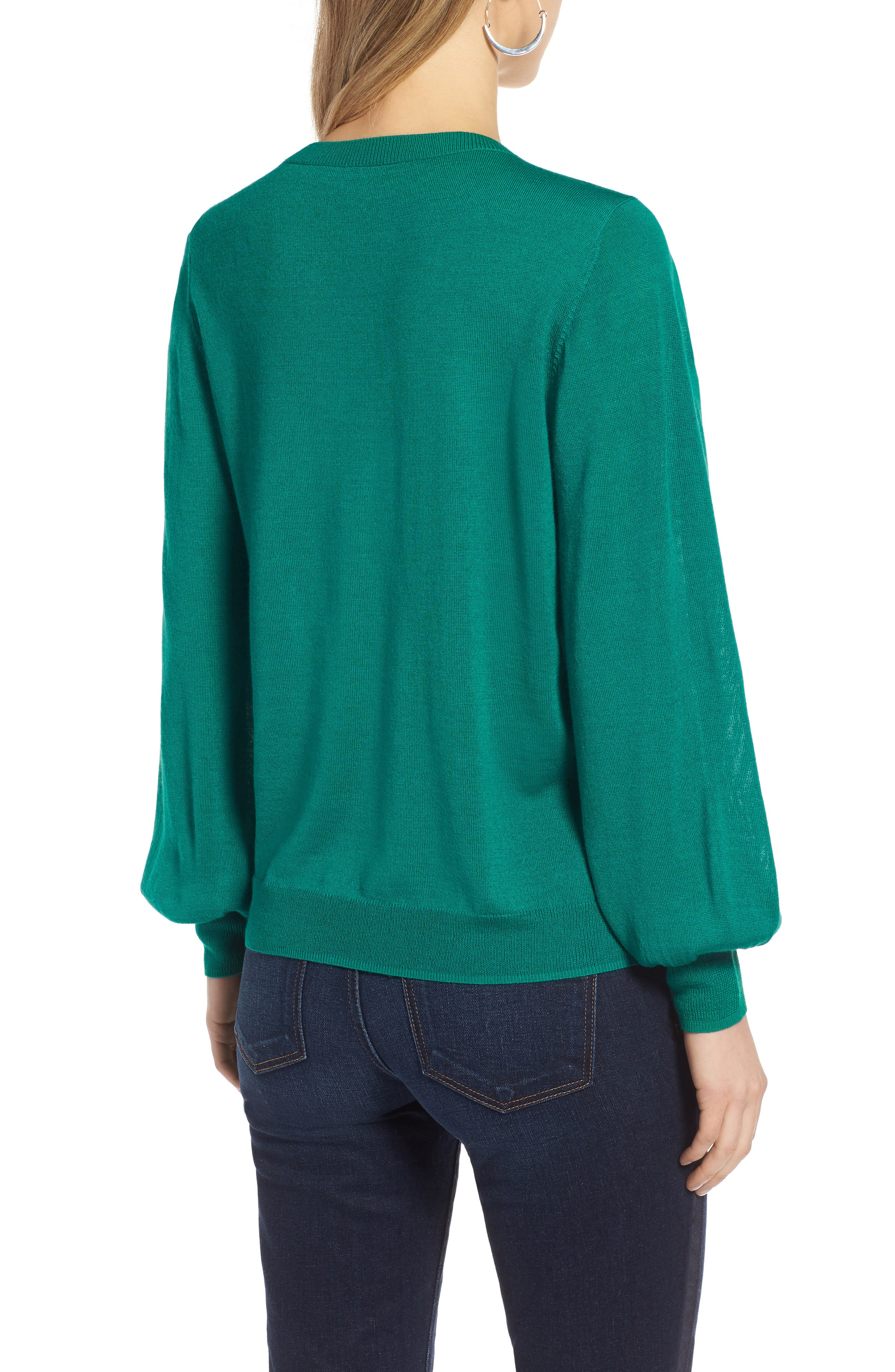 Puff Sleeve Sweater,                             Alternate thumbnail 14, color,