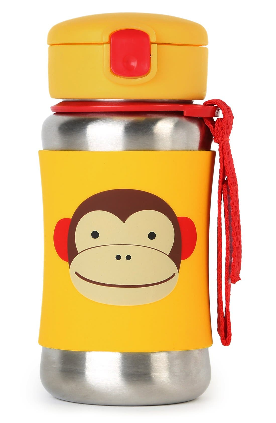'Zoo - Monkey' Stainless Steel Straw Bottle,                             Main thumbnail 1, color,
