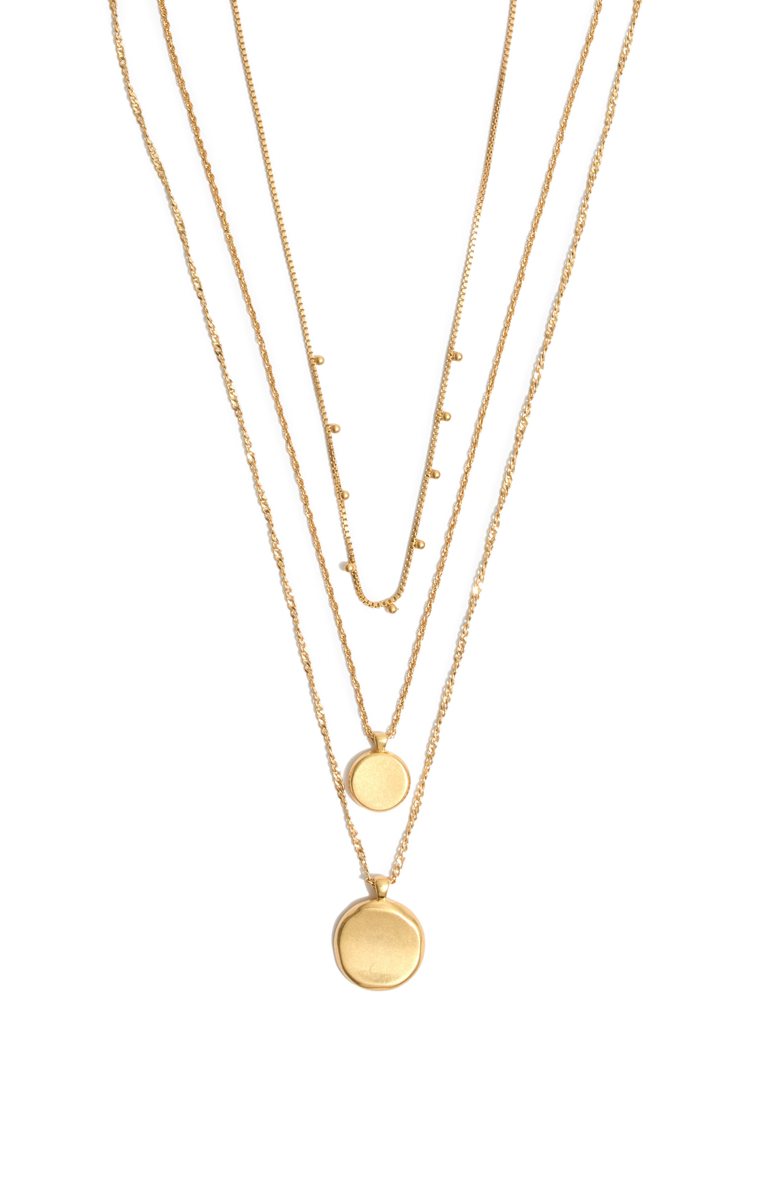 Coin Layered Necklace,                         Main,                         color, 710