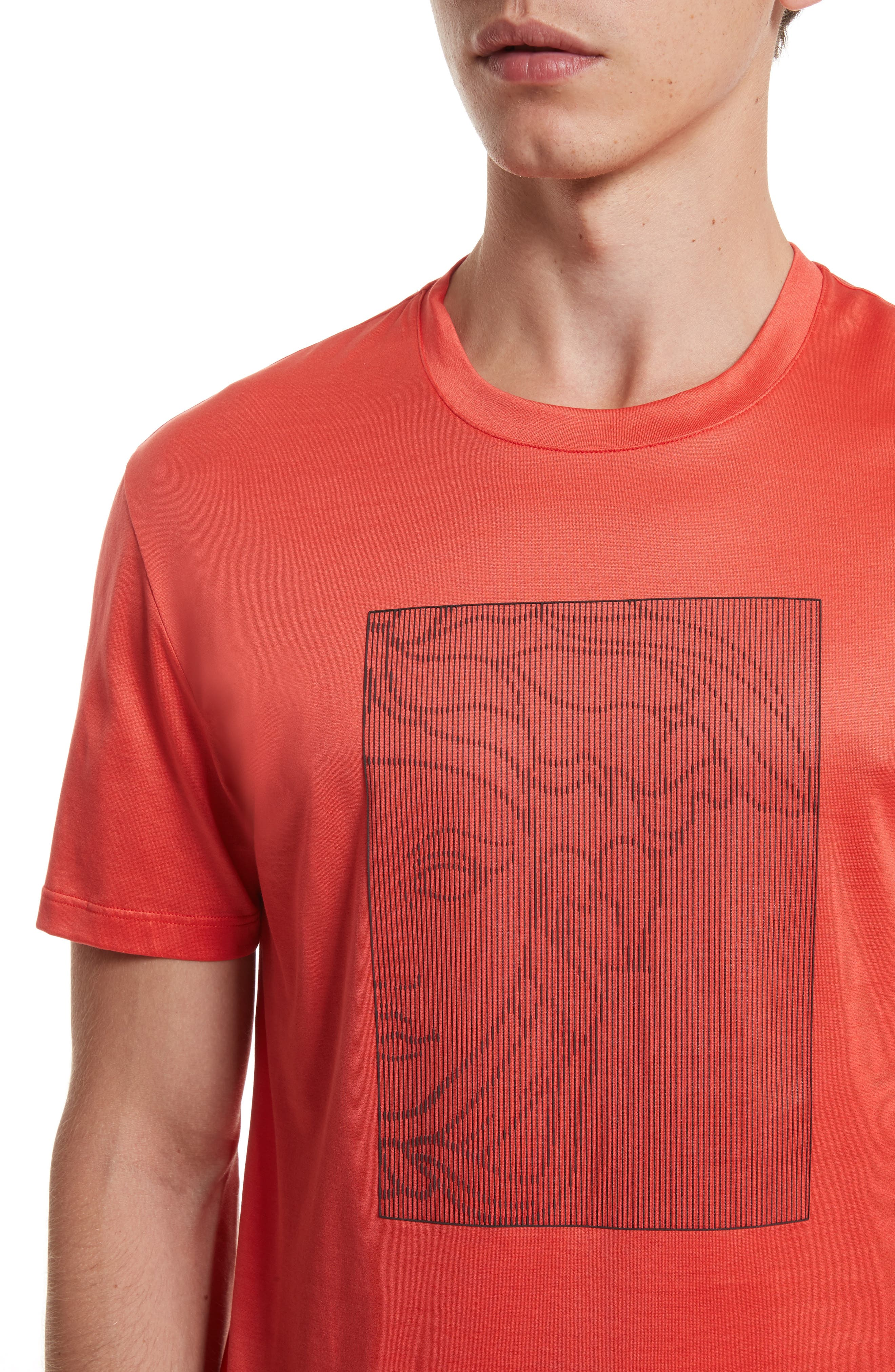 Barcode Medusa Graphic T-Shirt,                             Alternate thumbnail 4, color,                             600