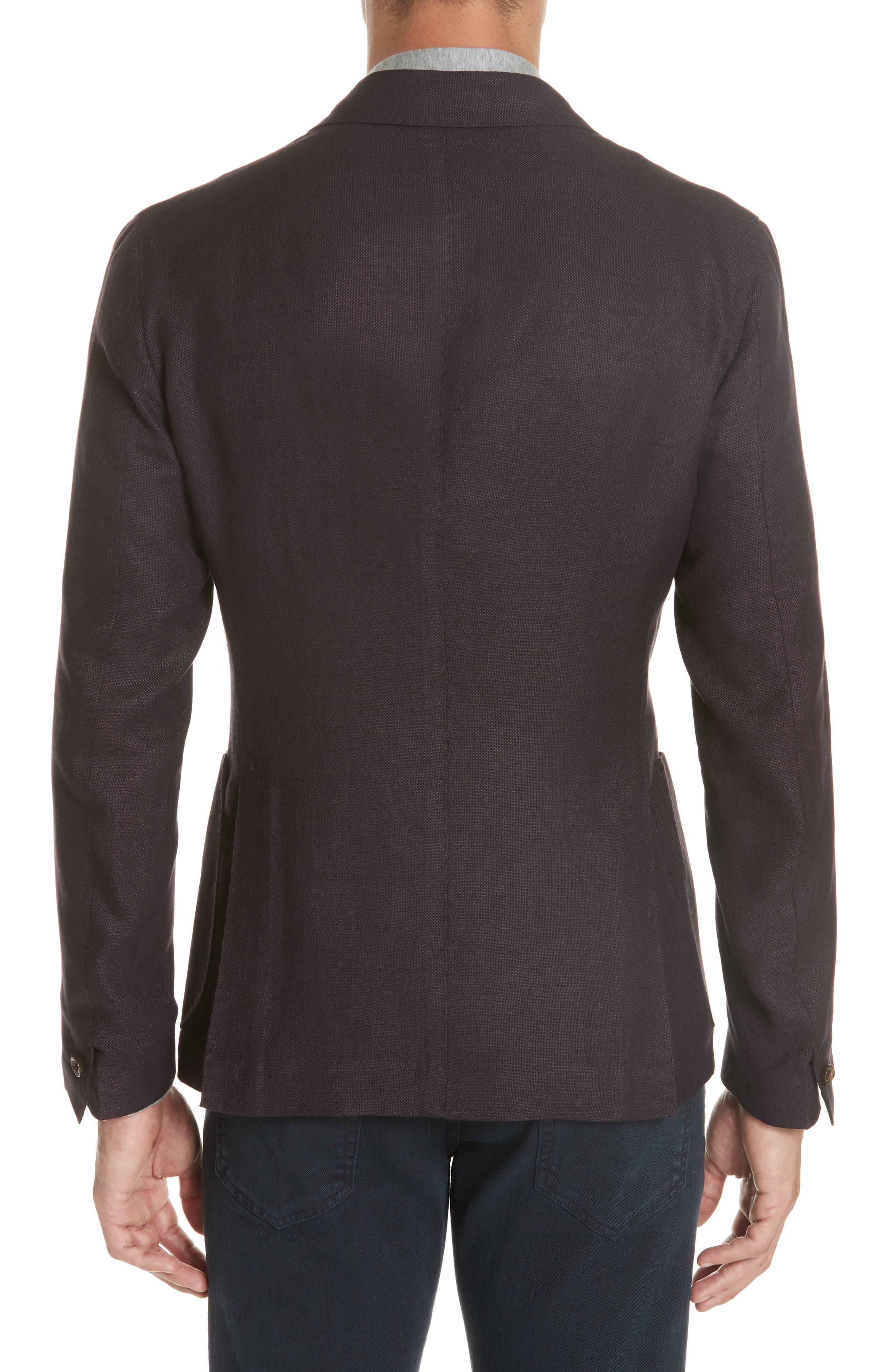 Trim Fit Linen Blend Blazer,                             Alternate thumbnail 2, color,                             500