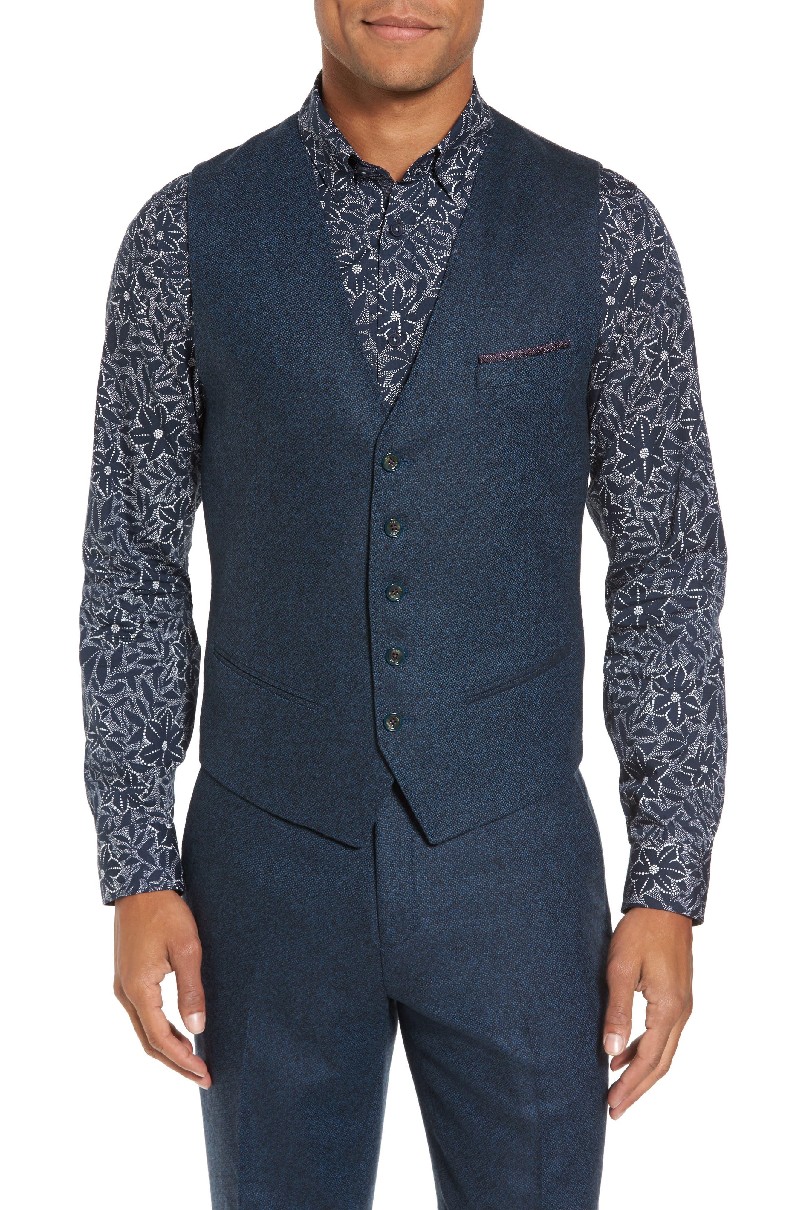 Modern Slim Fit Waistcoat,                         Main,                         color, 460