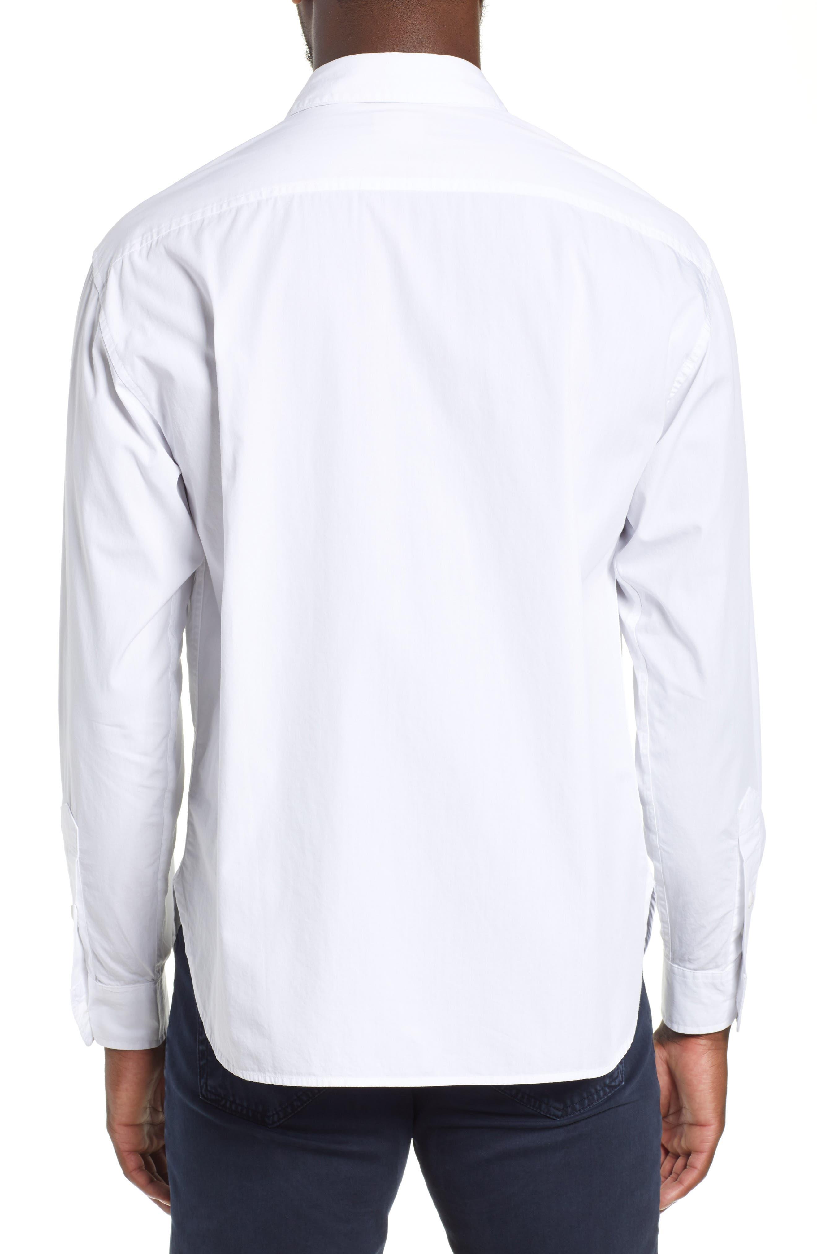 Shiro Oversize Pockets Regular Fit Sport Shirt,                             Alternate thumbnail 3, color,                             TRUE WHITE