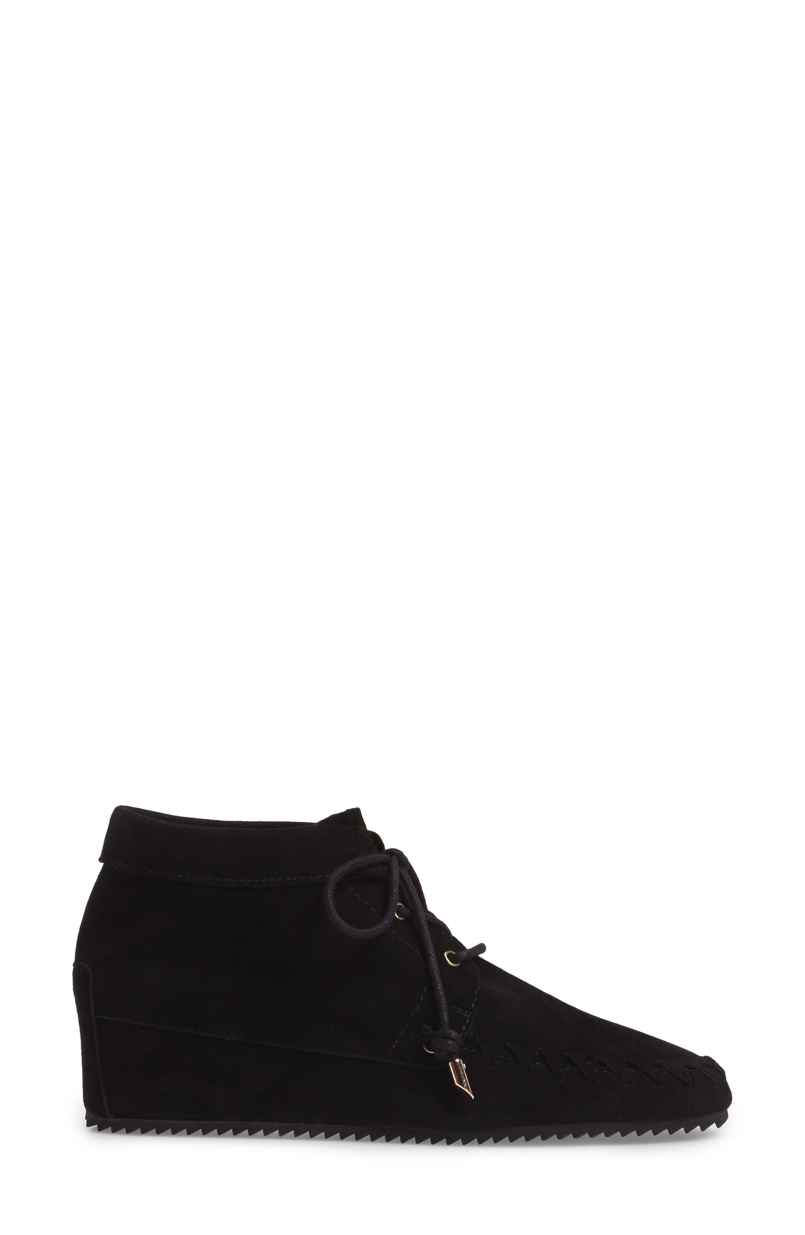 Jenna Wedge Bootie,                             Alternate thumbnail 3, color,                             001