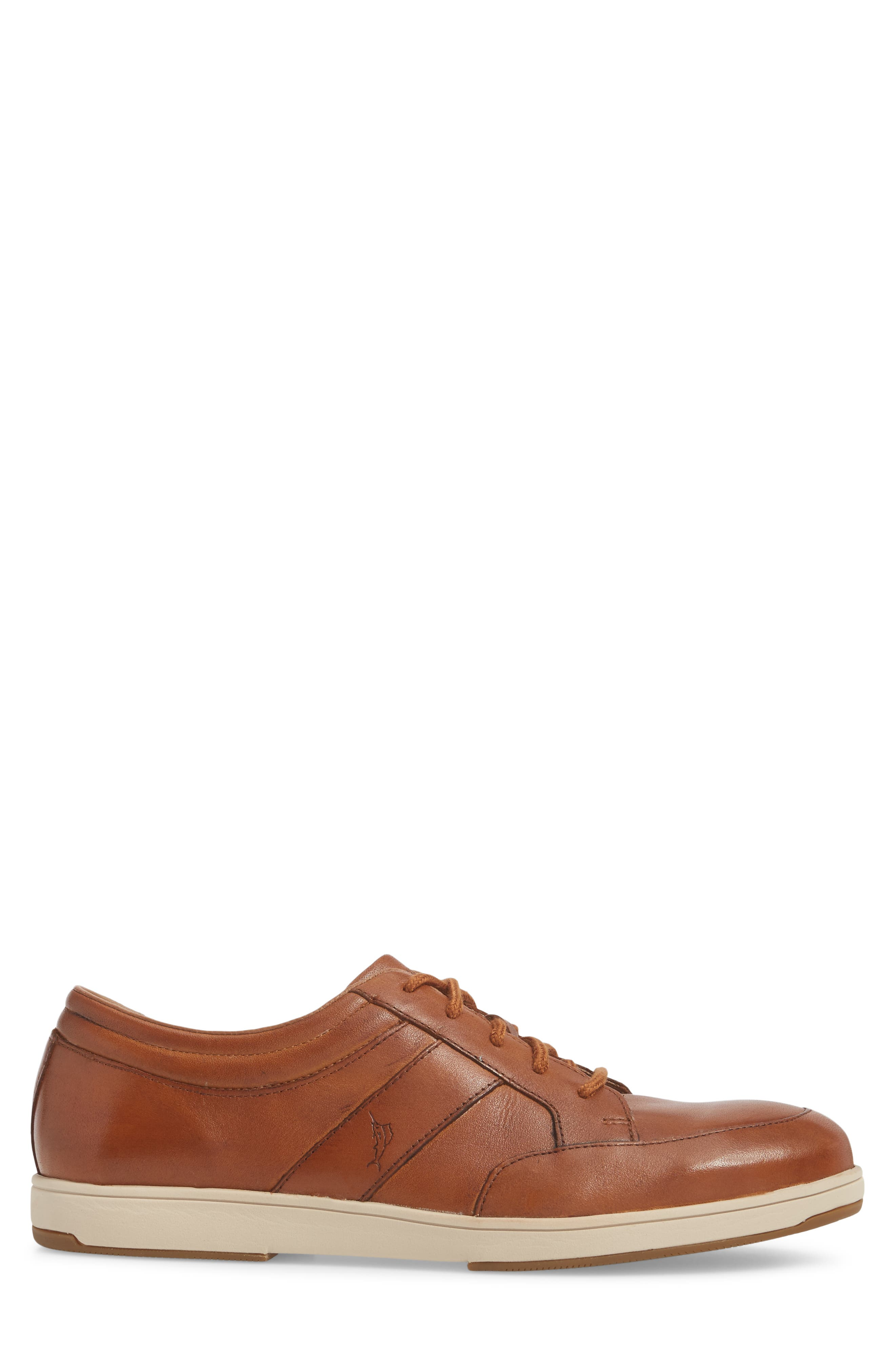 Caicos Authentic Low Top Sneaker,                             Alternate thumbnail 3, color,                             TAN LEATHER