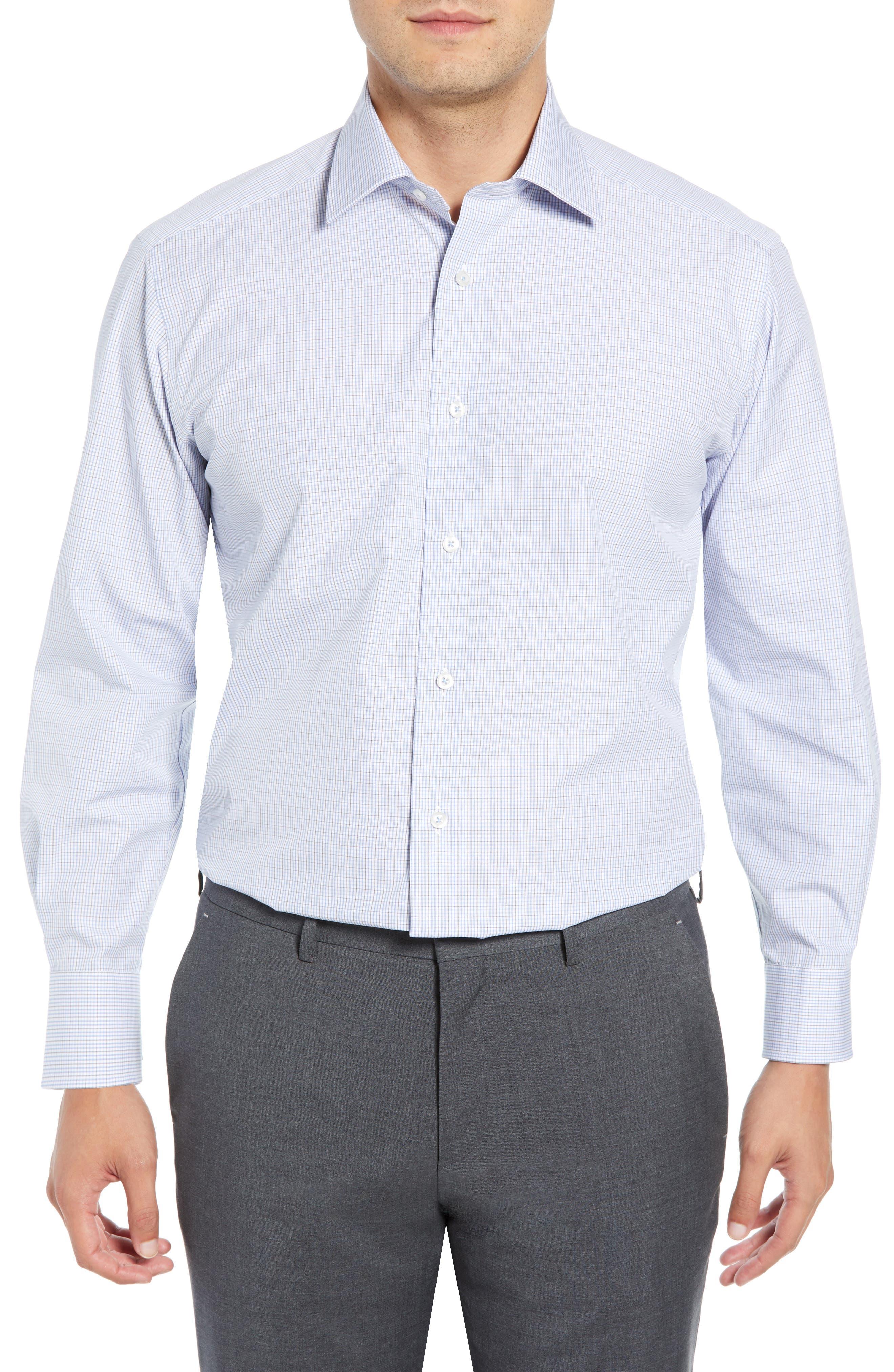 Regular Fit Check Dress Shirt, Main, color, 020